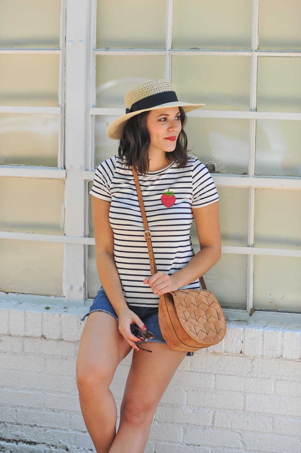 4th of july outfit ideas, striped tee outfits - @mystylevita - 7