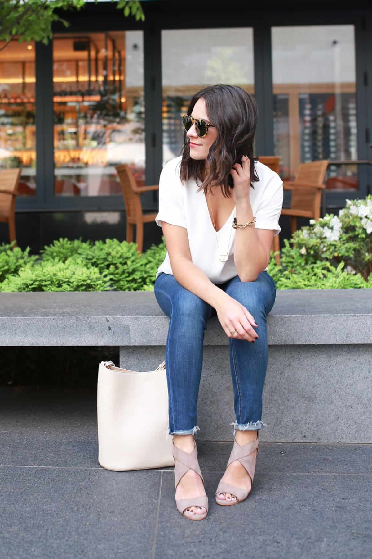 Fig and Olive Brunch, Cooper and Ella Blouse - Travel outfit ideas - My Style Vita @mystylevita