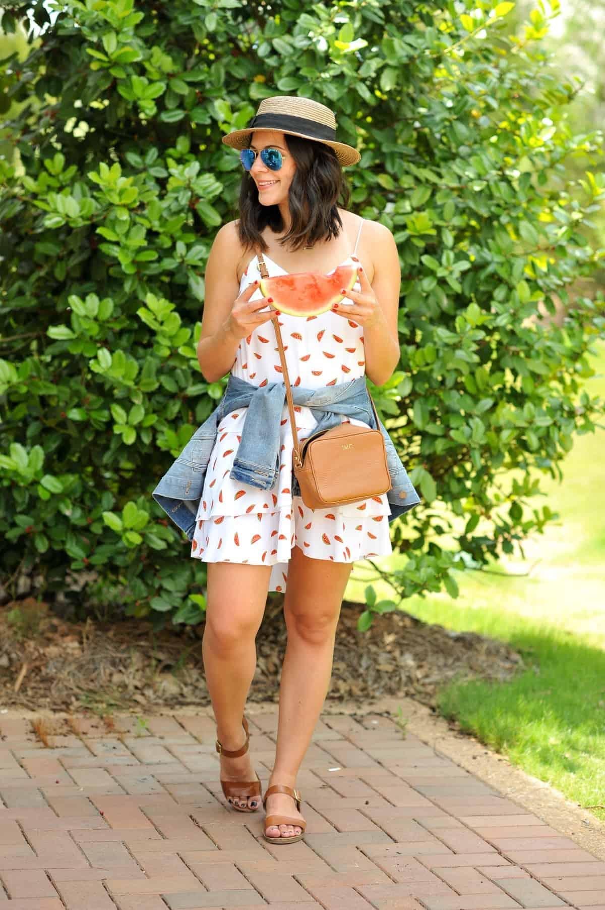 Cooper and Ella watermelon dress - summer outfit ideas - My Style Vita @mystylevita