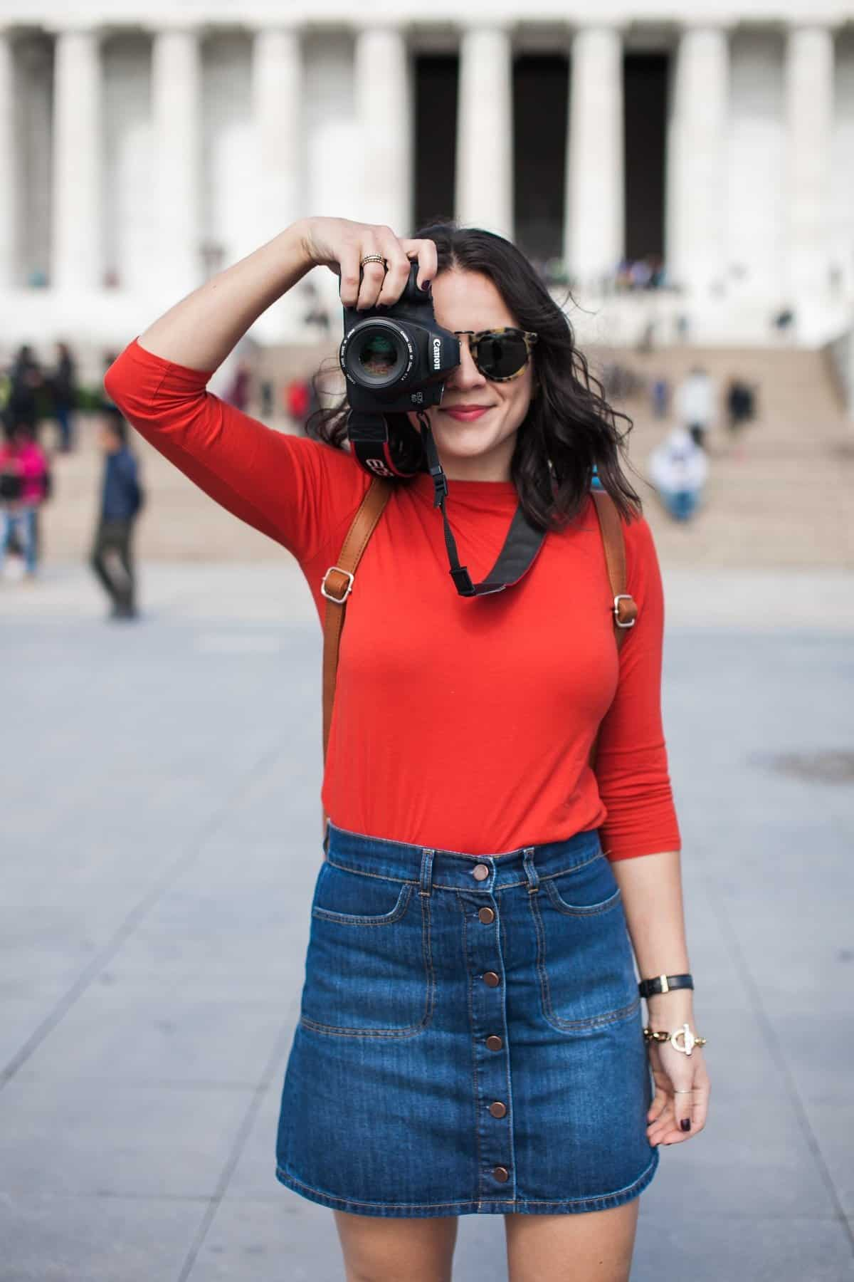 travel outfit ideas - how to travel while still looking cute, what to wear while being a tourist - My Style Vita @mystylevita