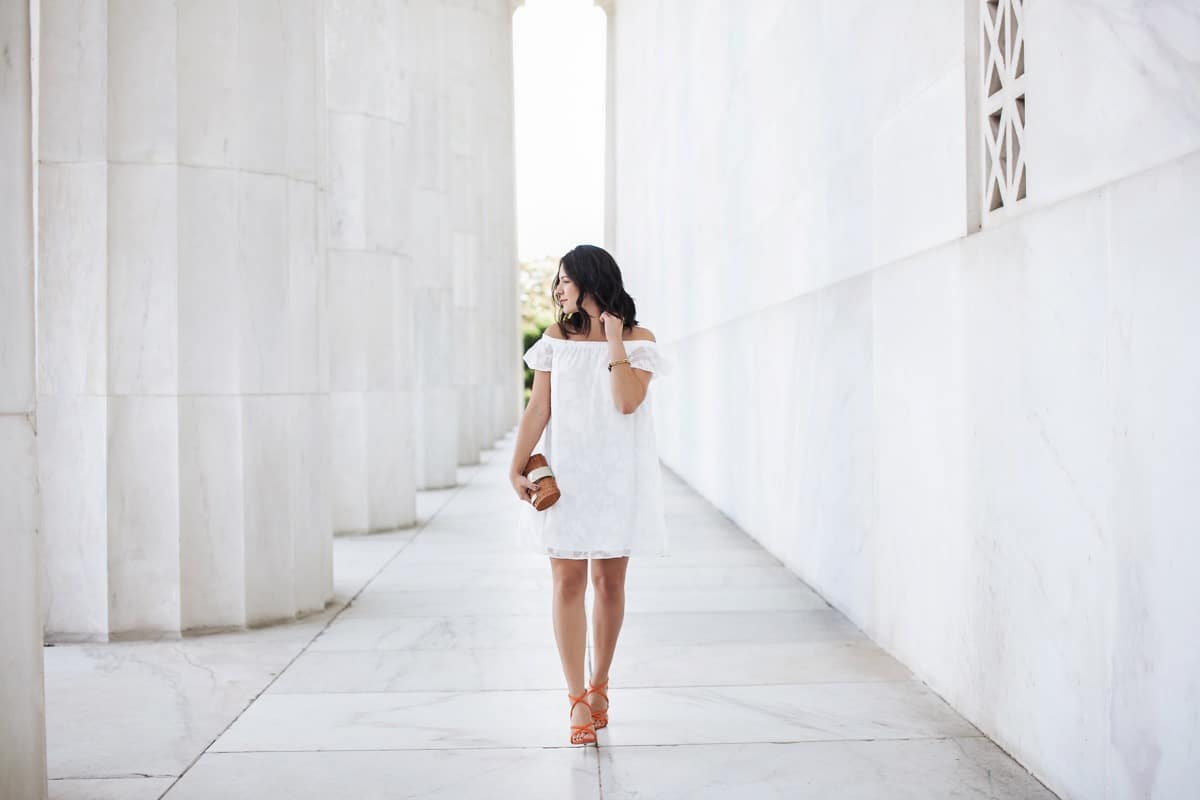 white off the should dress, how to wear a white dress - My Style Vita @mystylevita