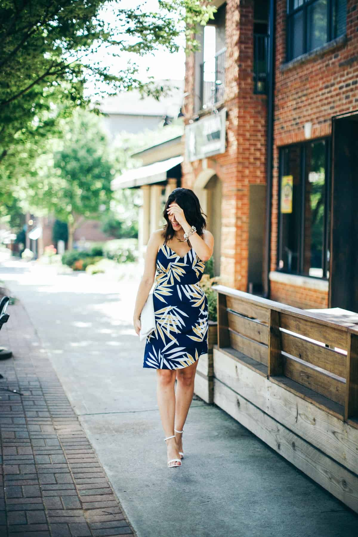 Finders Keepers palm print dress - My Style Vita @mystylevita