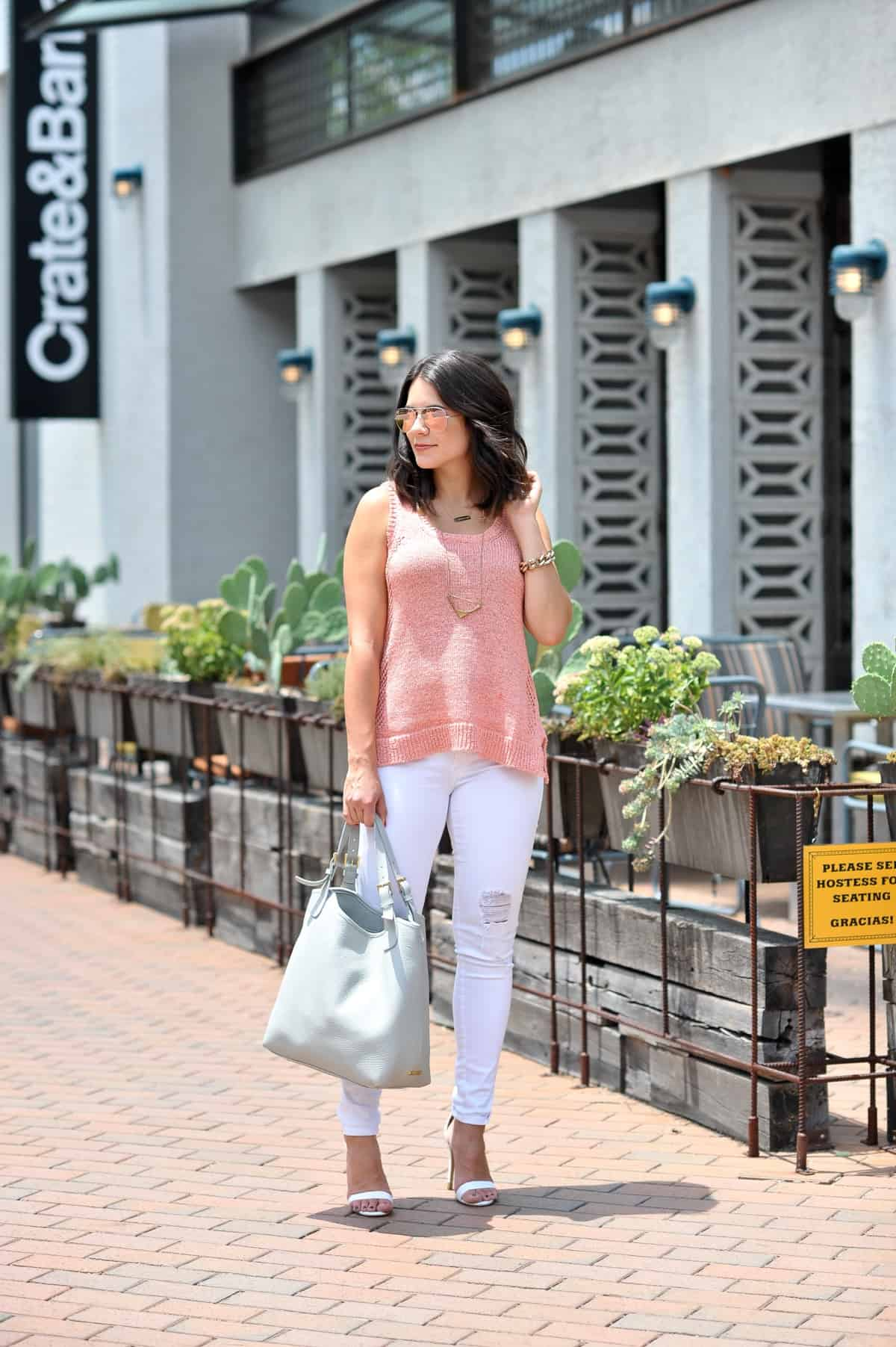 07e19efb21f Lilla P Summer Sweater - outfit ideas with white jeans - My Style Vita   mystylevita