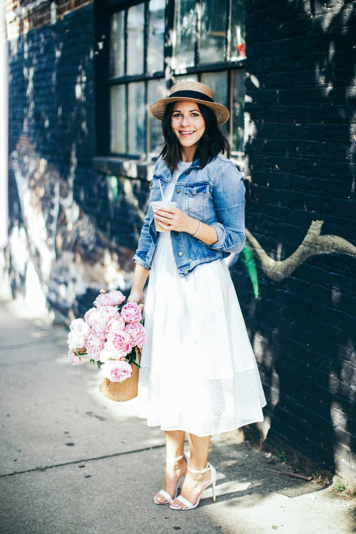 Pink Peonies Summer Outfit Ideas White Dress My Style Vita Mystylevita