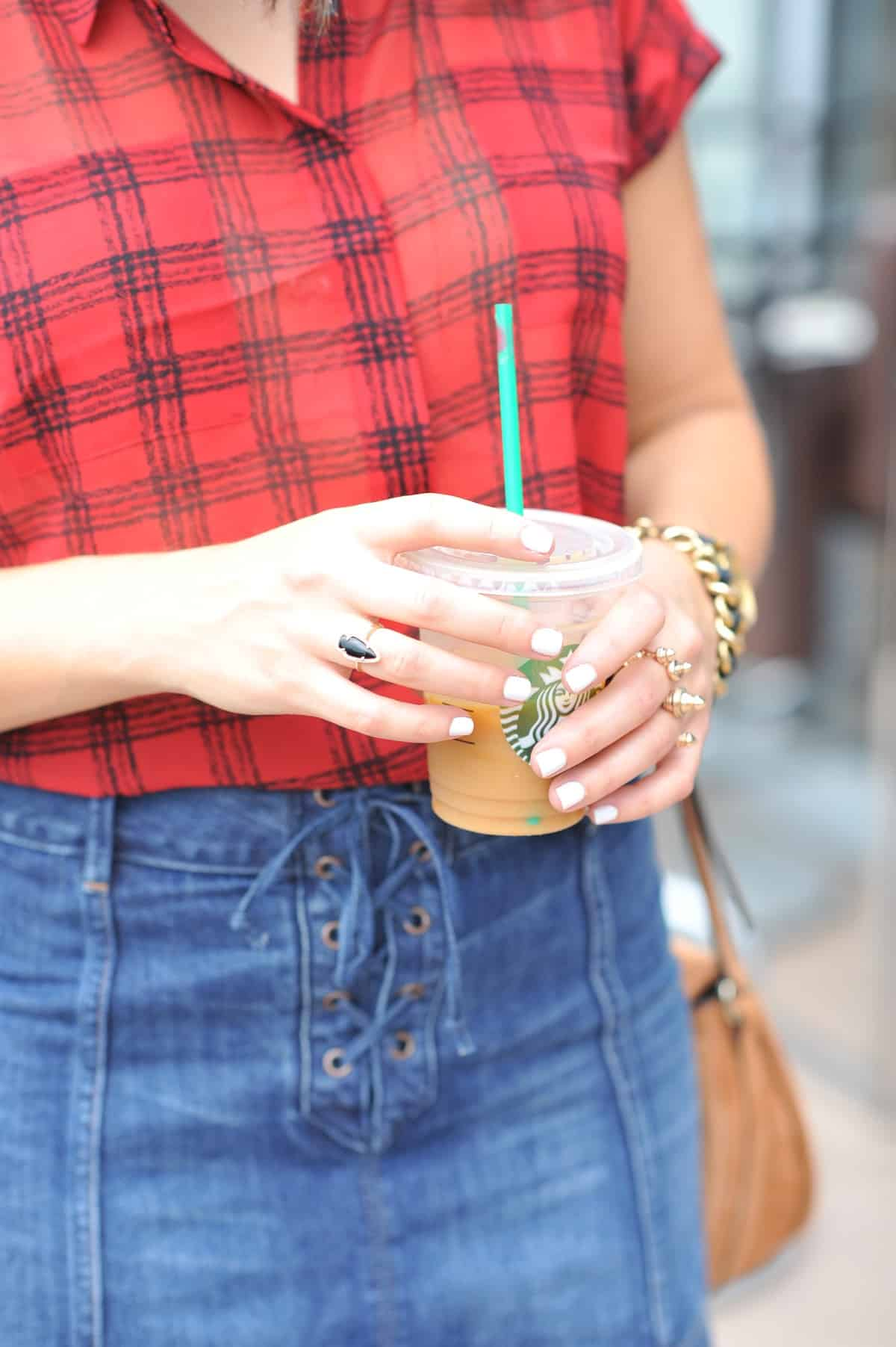abercrombie and fitch denim mini skirt - nordstrom anniversary sale plaid shirt - My Style Vita @mystylevita