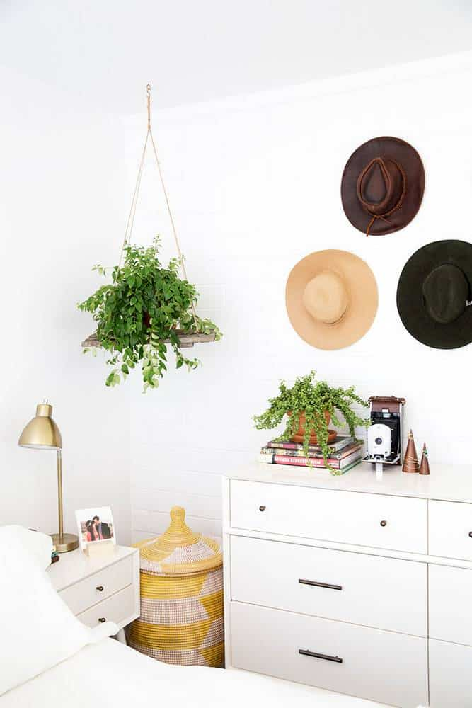 boho inspired bedrooms with hats - my style vita