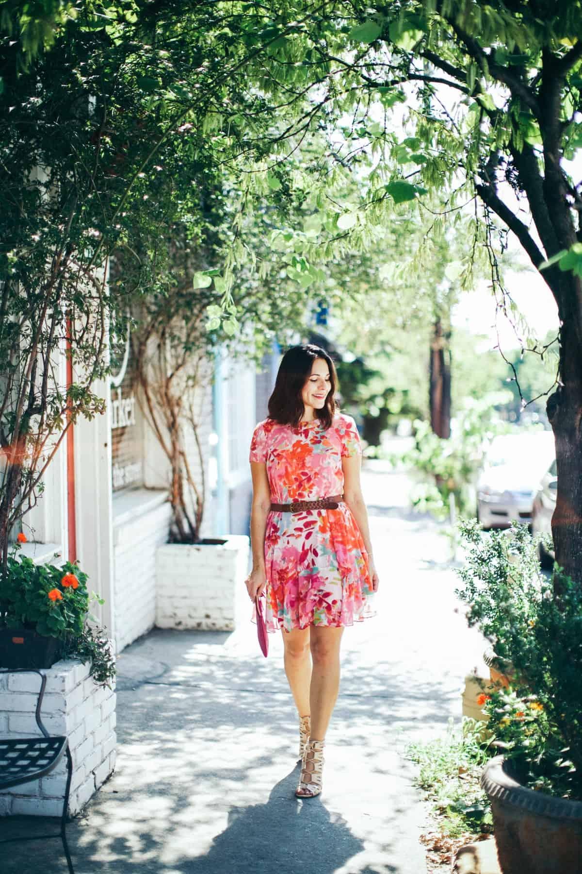 Eliza J floral printed summer dress - summer dress outfit ideas - My Style Vita @mystylevita