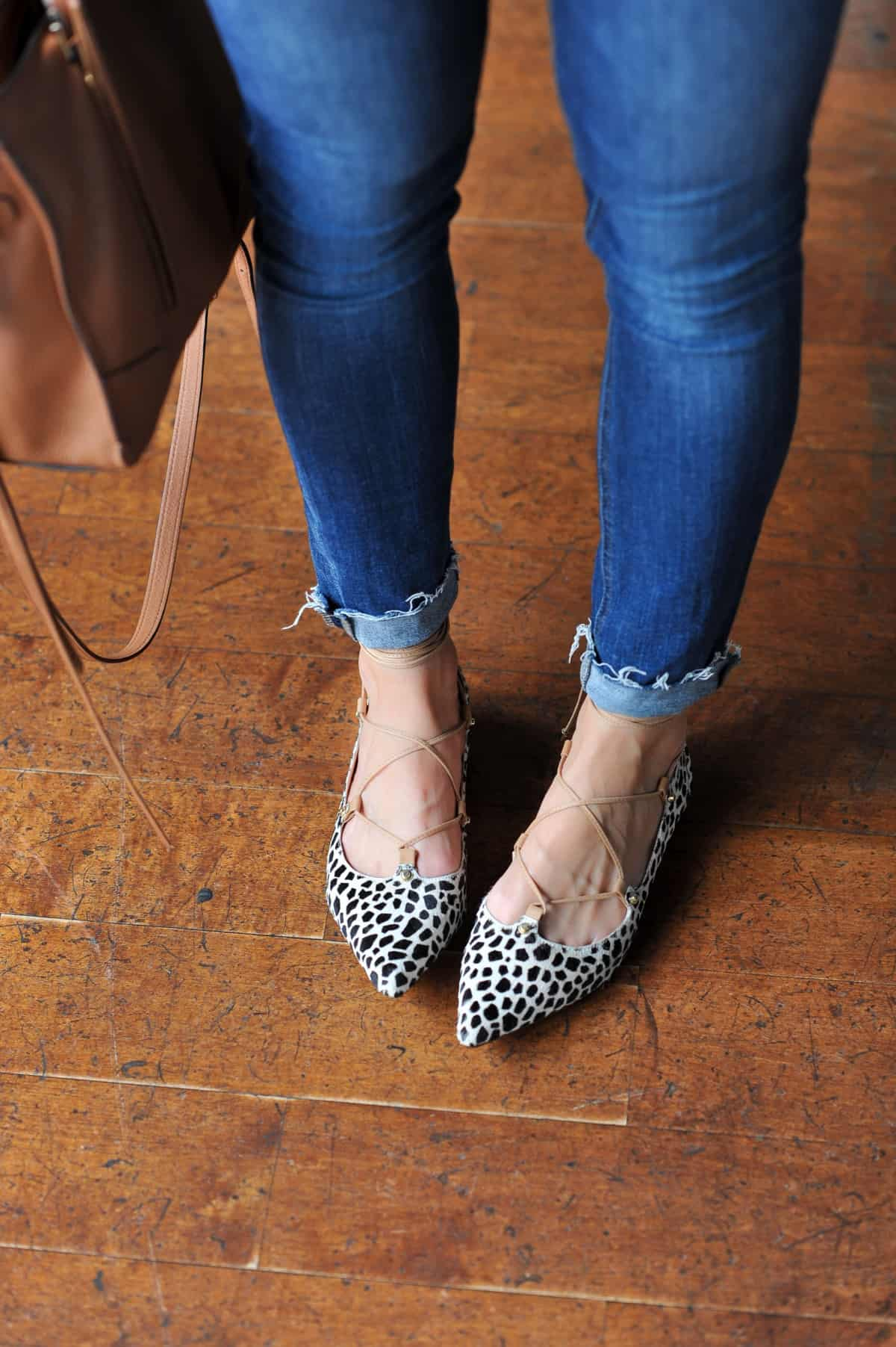 halogen spotted calf hair lace up flats nordstrom anniversary sale - My Style Vita @mystylevita - 15