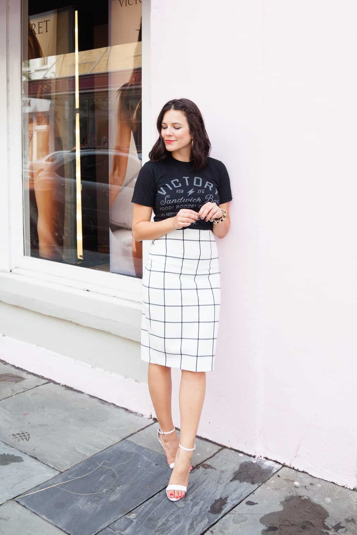 how to style a t-shirt for the office - My Style Vita @mystylevita The Blog Societies Conference