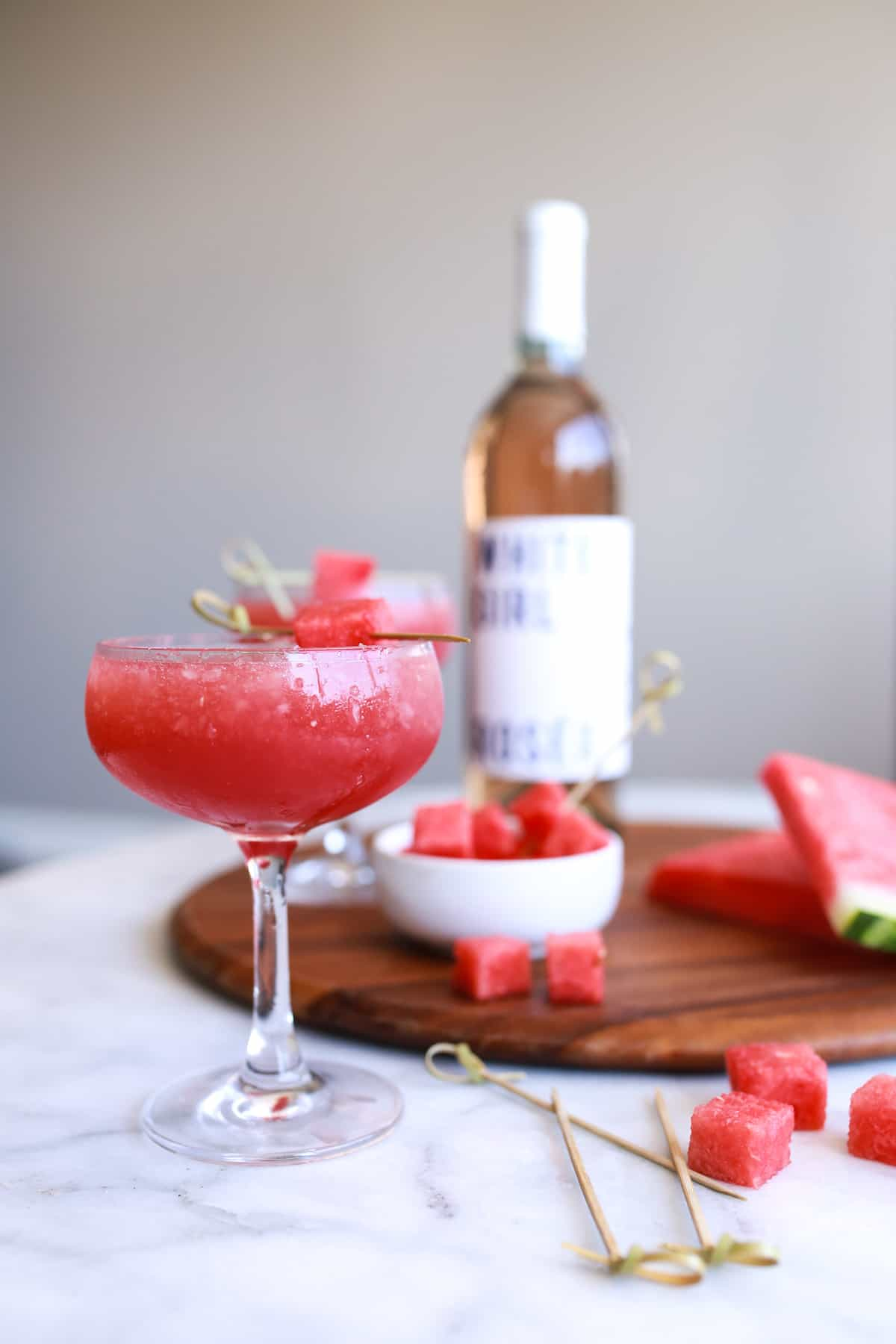 white girl rose wine, rose wine, rose slushies, how to make rose slushies - My Style Vita @mystylevita