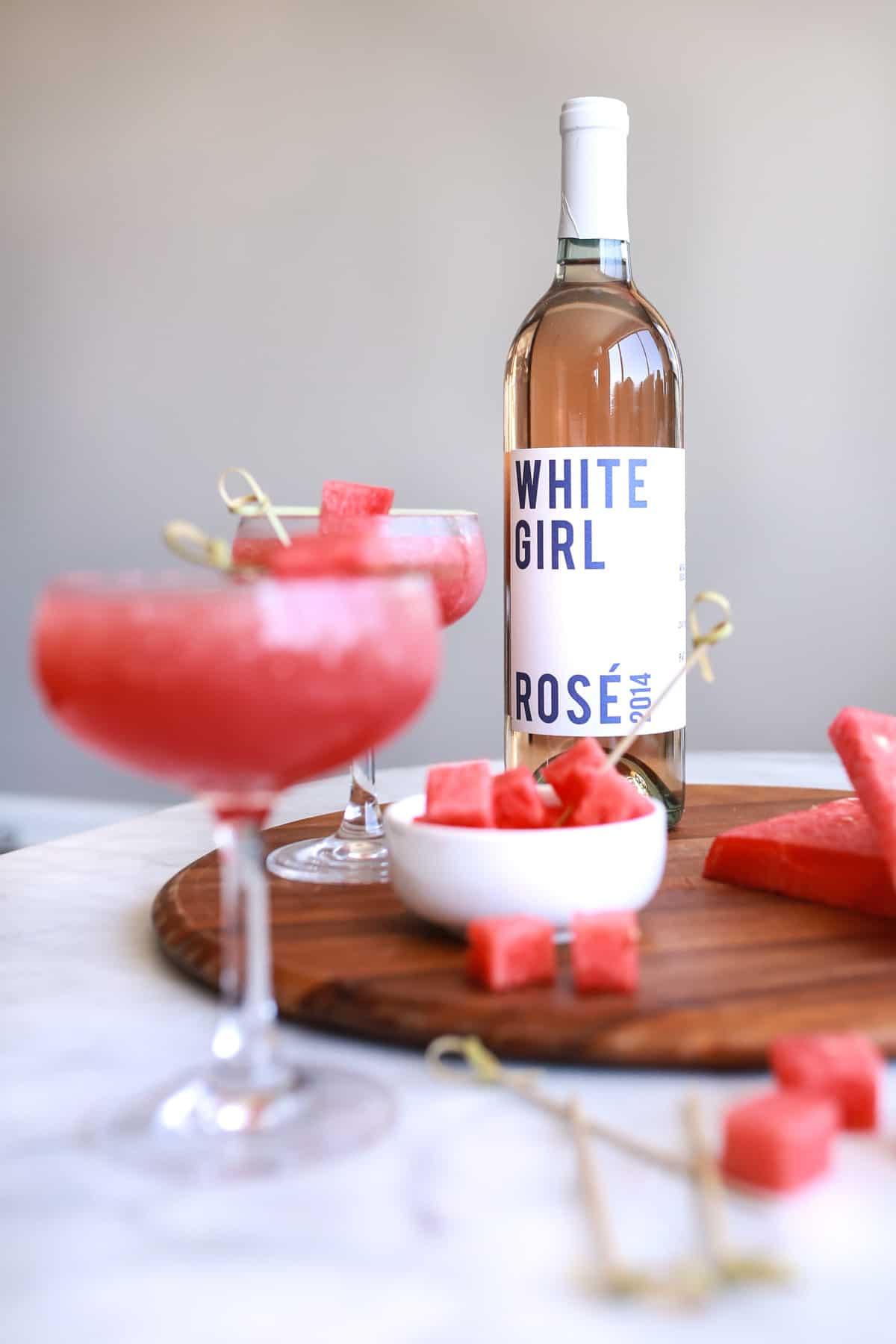 white girl rose wine, rose wine, rose slushies, how to make rose slushies - My Style Vita @mystylevita (5 of 6)