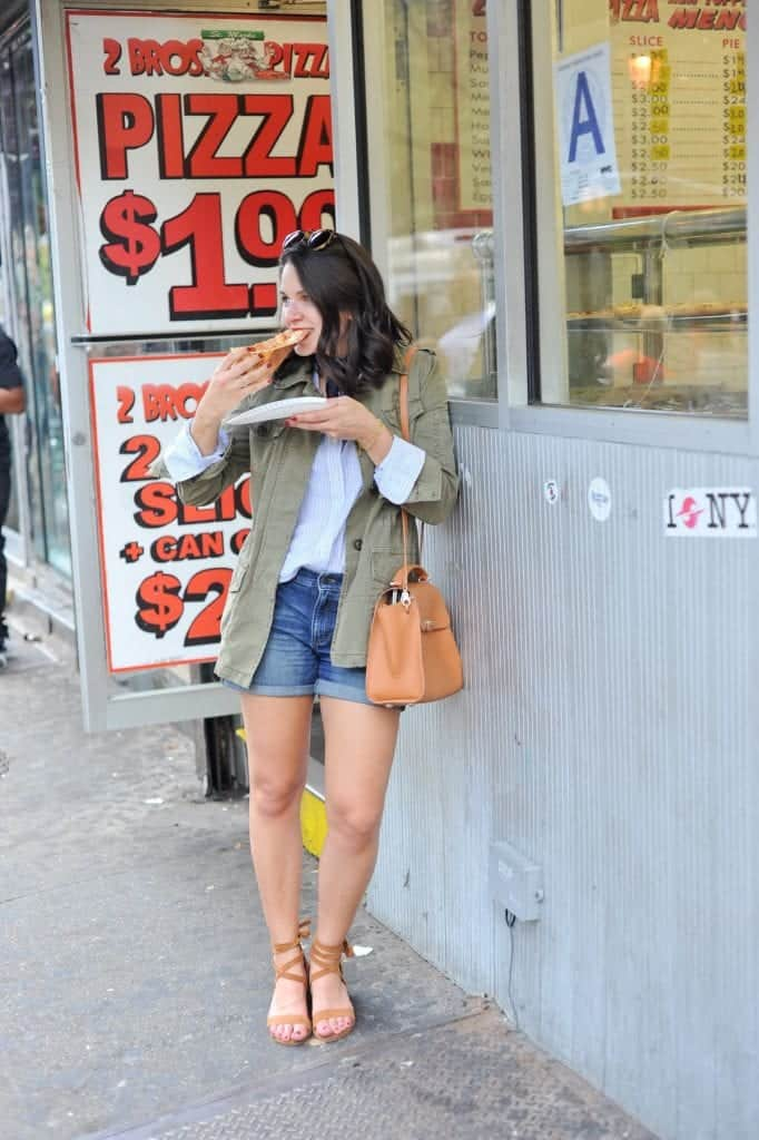 eating pizza in NYC   New York City Travel Guide