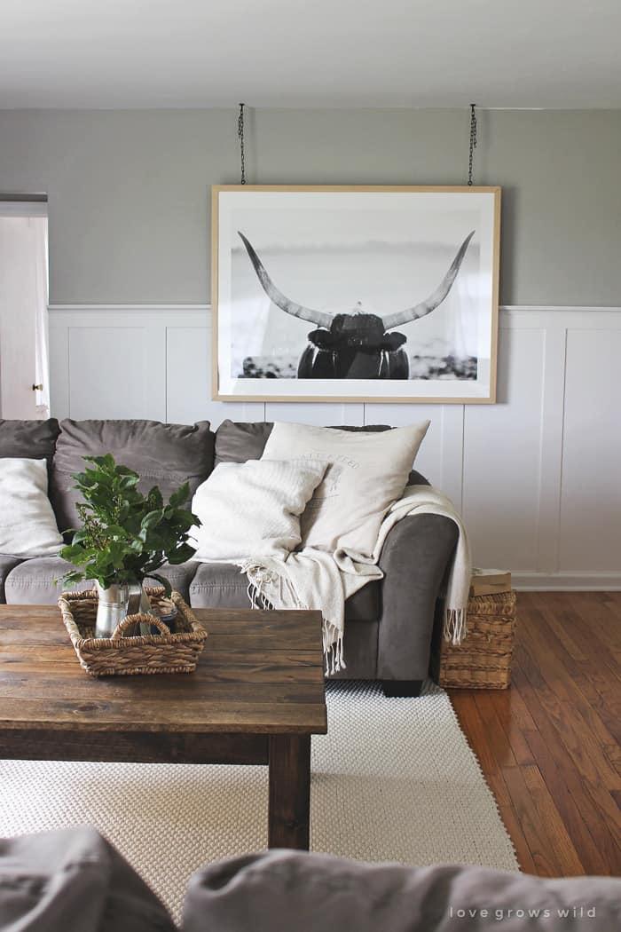 decorating with longhorns - My Style Vita @mystylevita