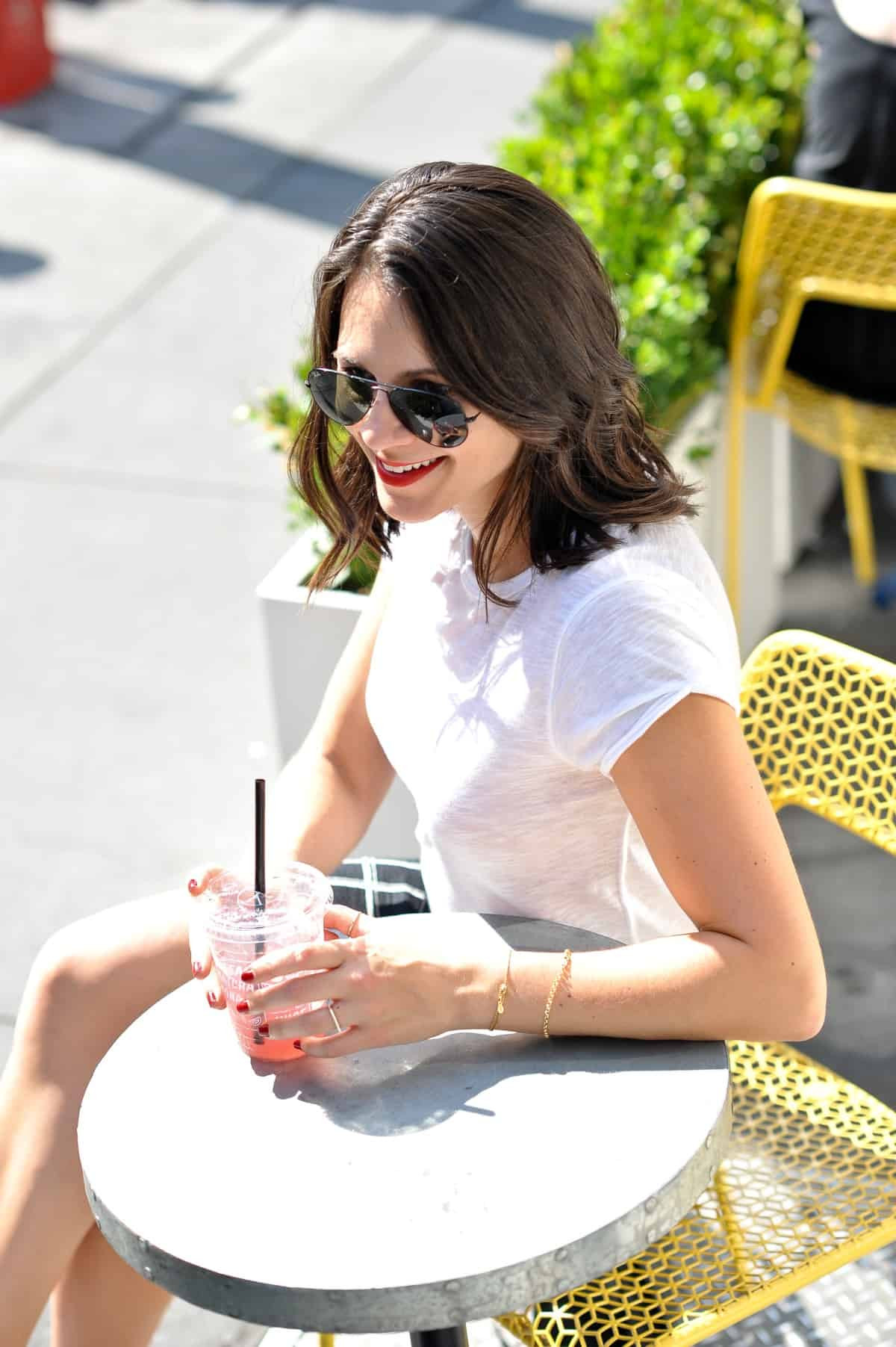 Madewell Windowpane Skirt - Black and white outfit ideas - NYFW, Street Style, Adidas, How to style Adidas - My Style Vita @mystylevita