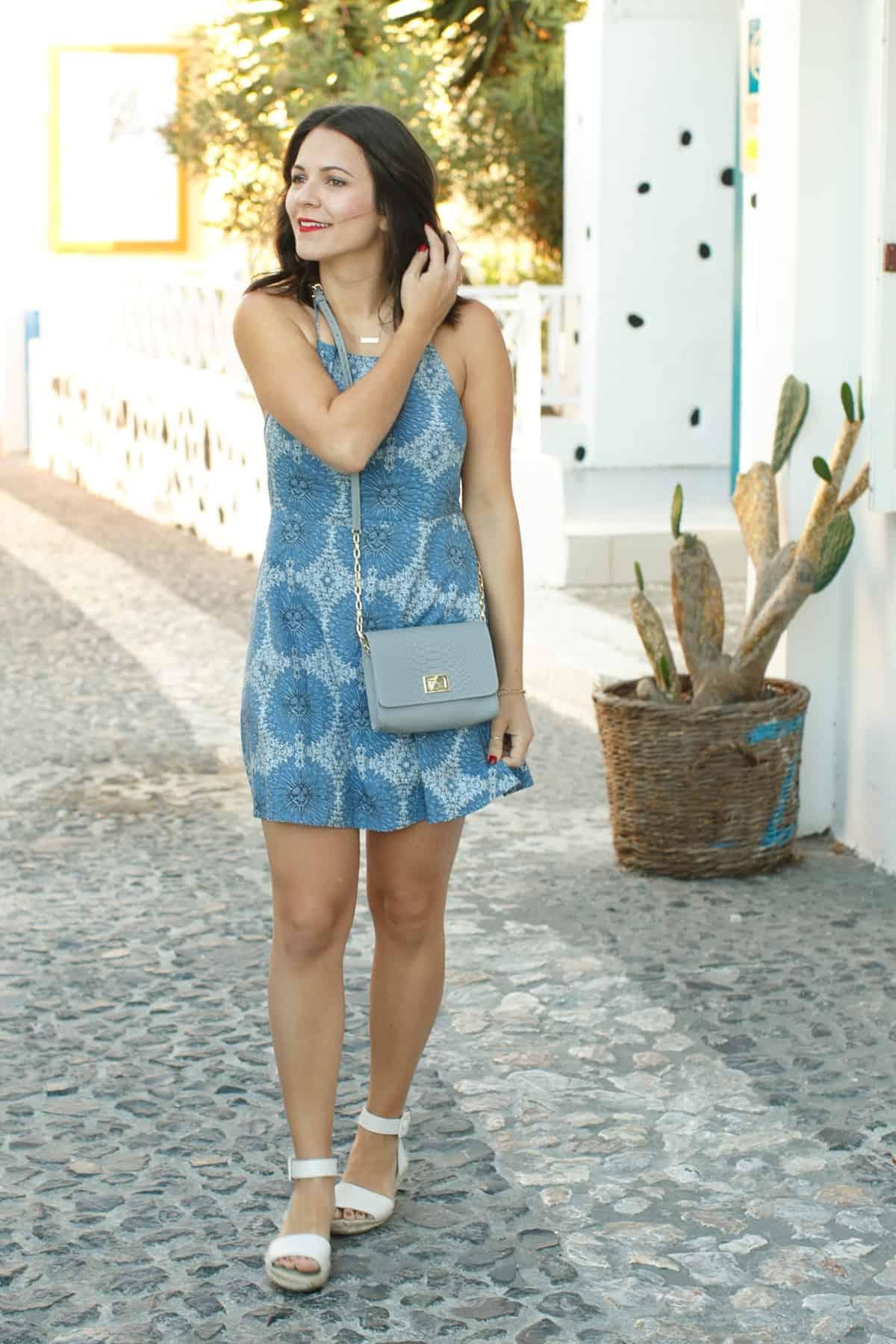 Best Blue Dresses For Greece Trip