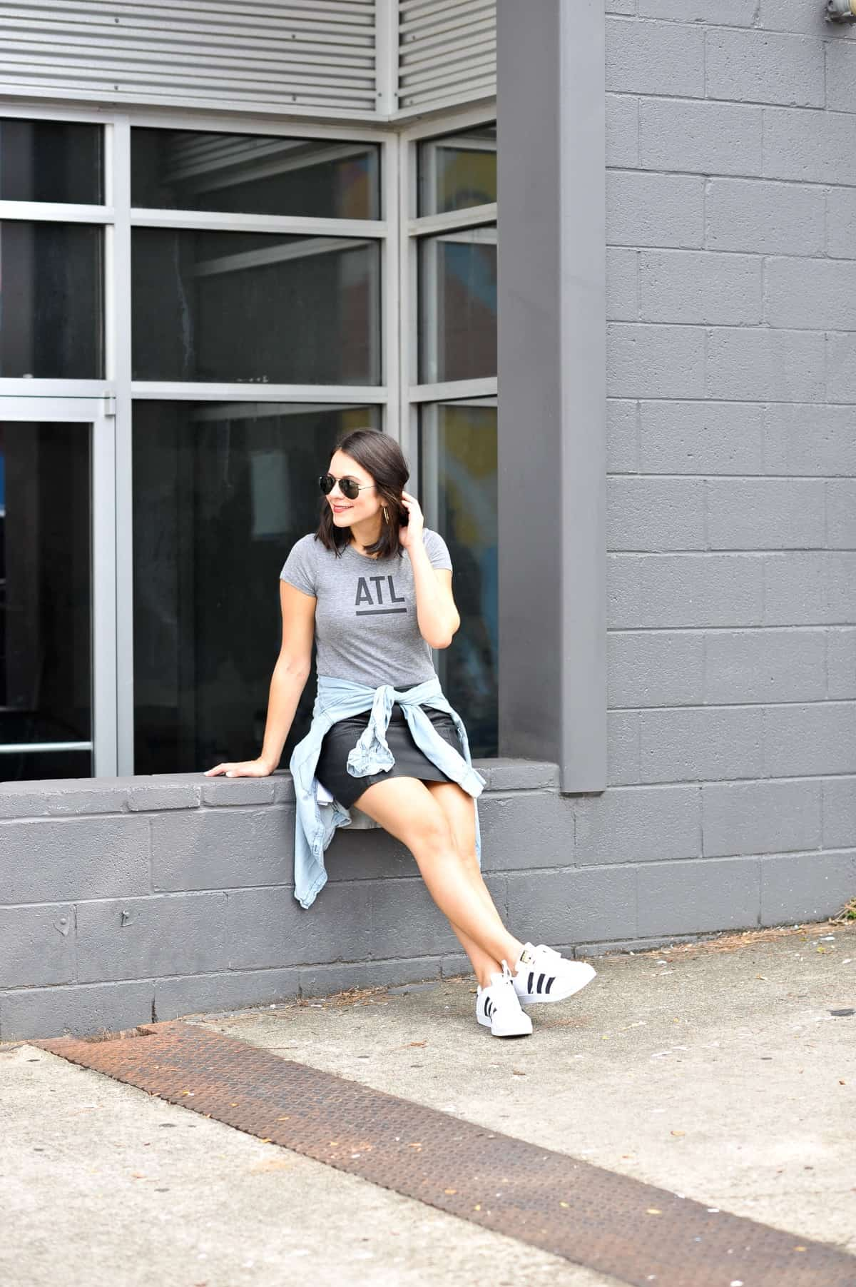 best atlanta based clothing brands, affordable outfit ideas, Adidas Superstars - My Style Vita - @mystylevita - 11