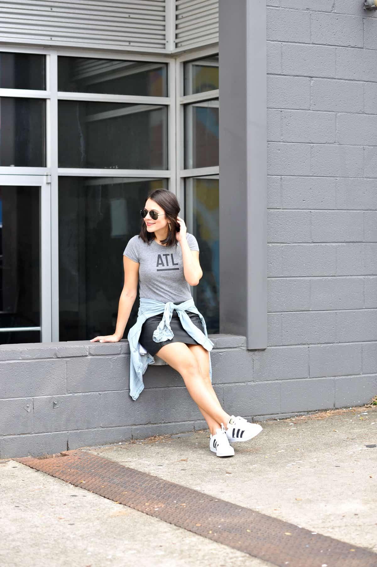best atlanta based clothing brands, affordable outfit ideas, Adidas Superstars - My Style Vita - @mystylevita - 11