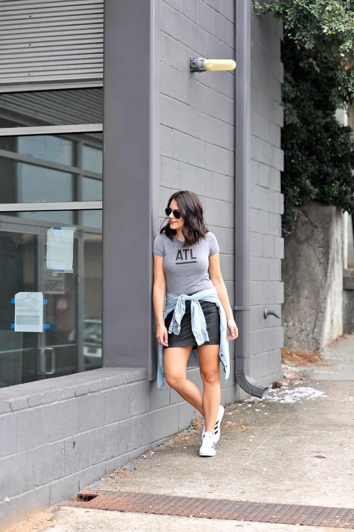 best atlanta based clothing brands, affordable outfit ideas, Adidas Superstars - My Style Vita - @mystylevita - 2