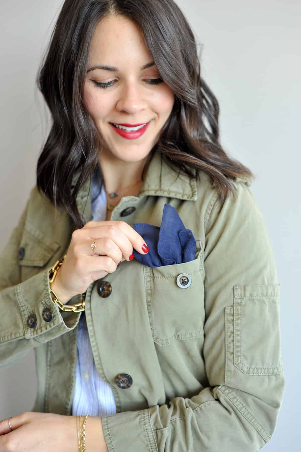 different ways to wear a neck scarf - My Style Vita @mystylevita