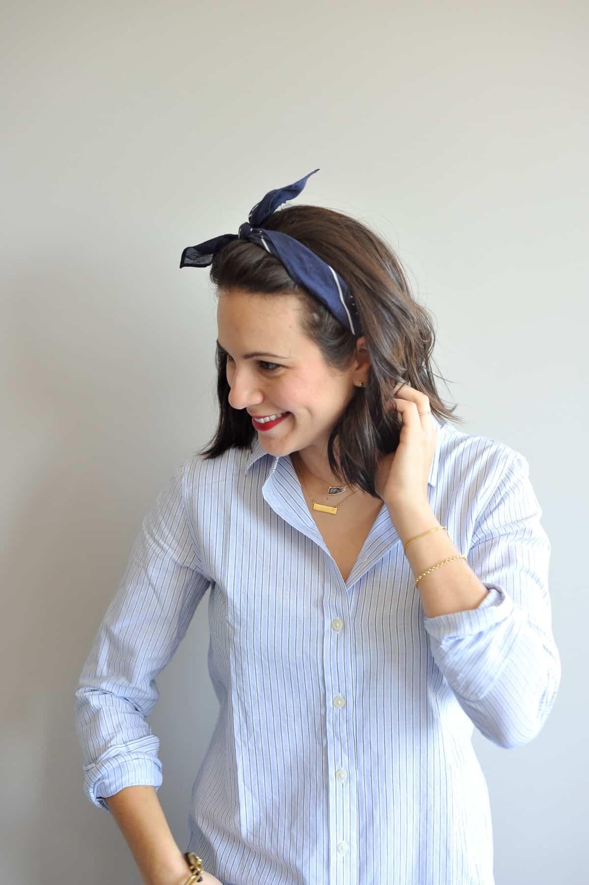 different ways to wear a neck scarf - My Style Vita @mystylevita