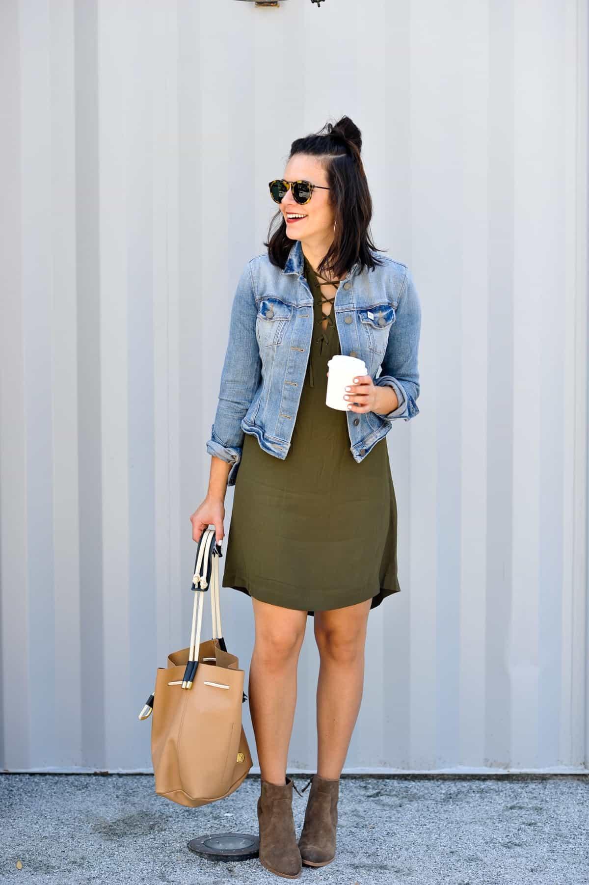 madewell novella lace up dress - My Style Vita @mystylevita