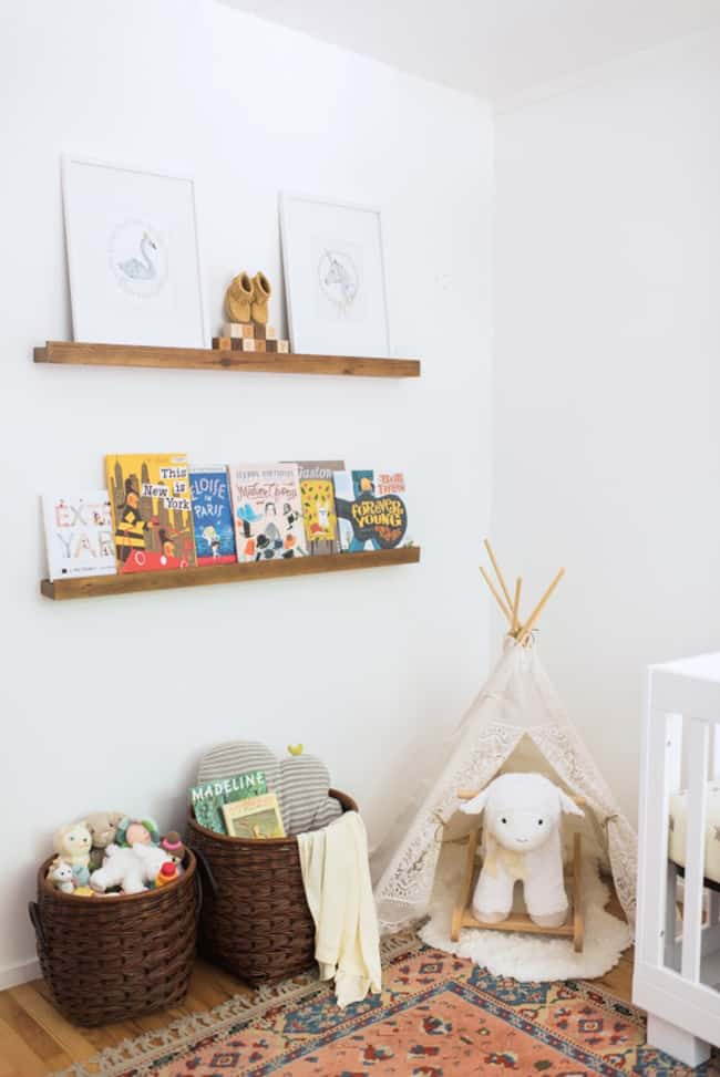 modern and bohemian inspired nurseries