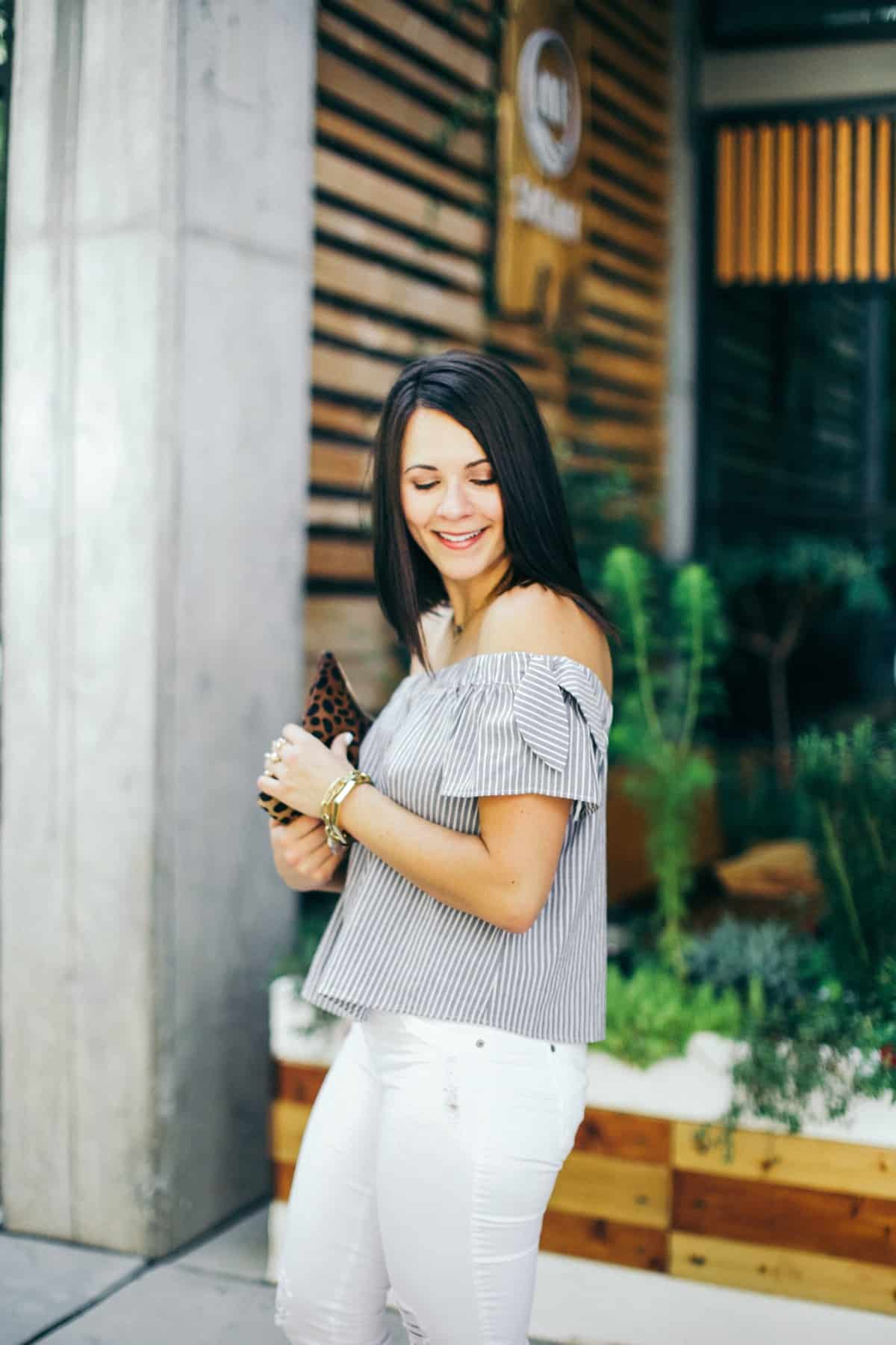 off the shoulder outfit ideas - My Style Vita @mystylevita