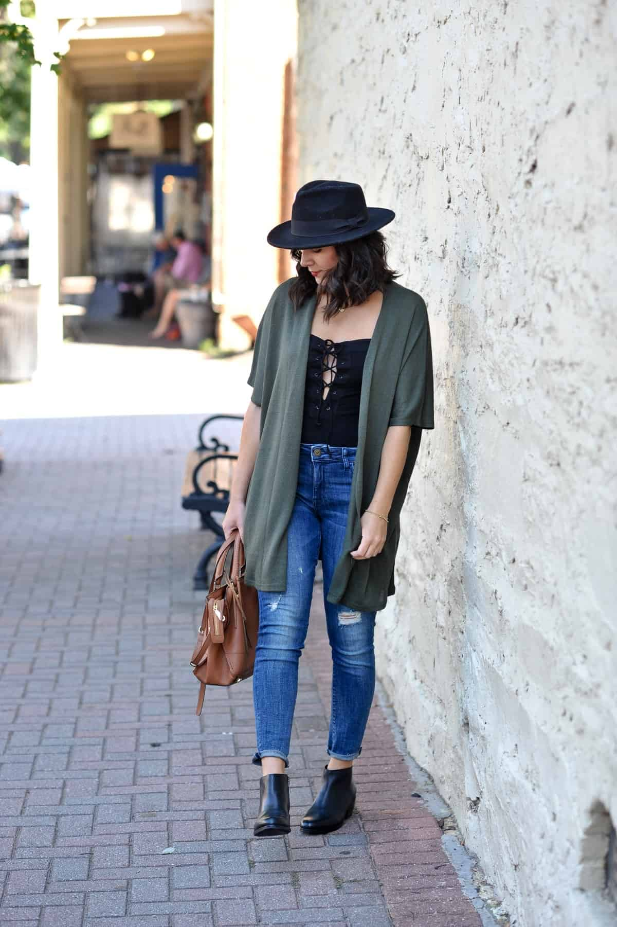 Clarks Gelata Boot, flat boots for fall, fall outfit ideas - My Style Vita @mystylevita