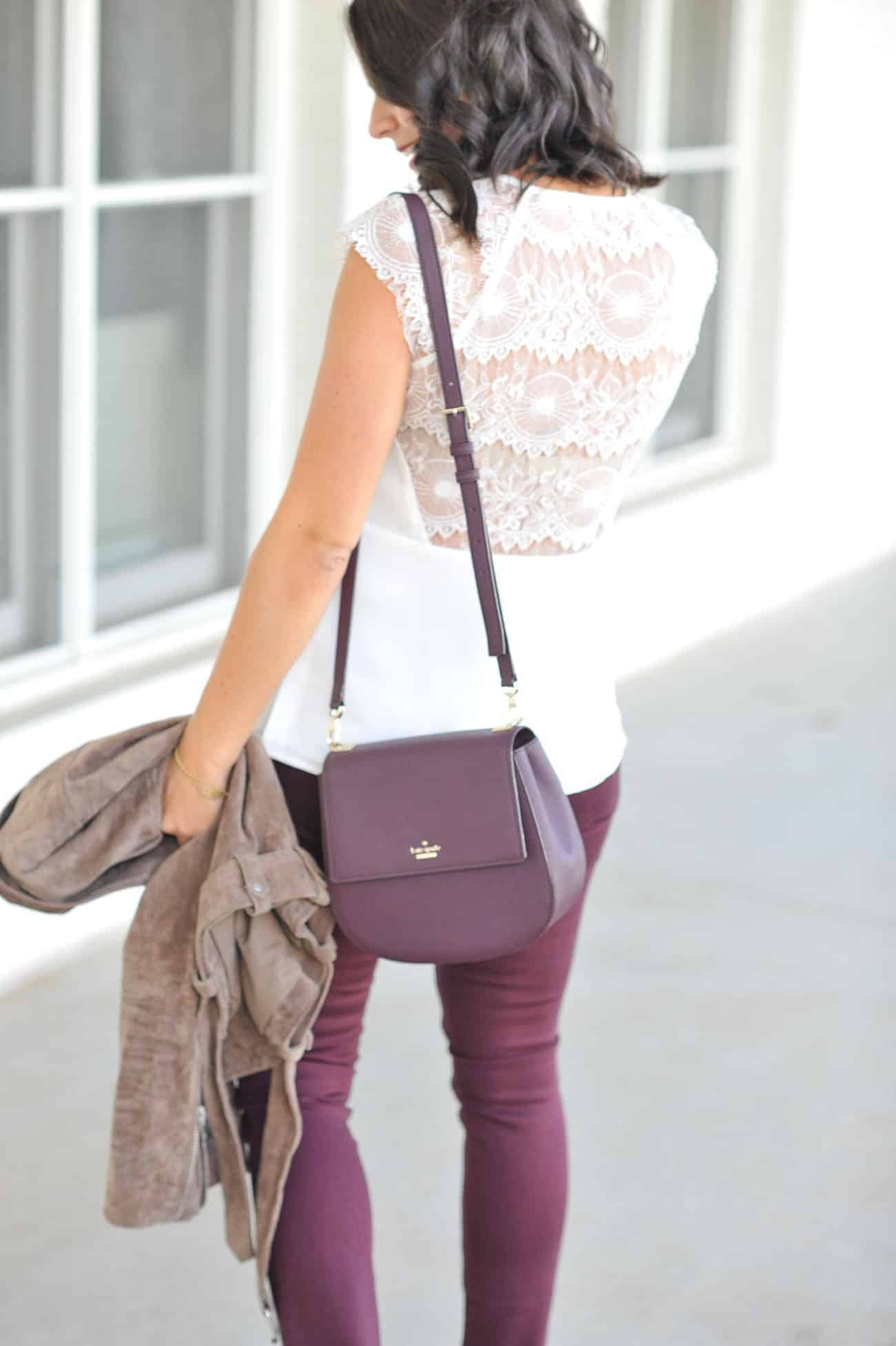 Lace tops for fall, lace top, Cooper & Ella lace top, fall outfit ideas - My Style Vita @mystylevita