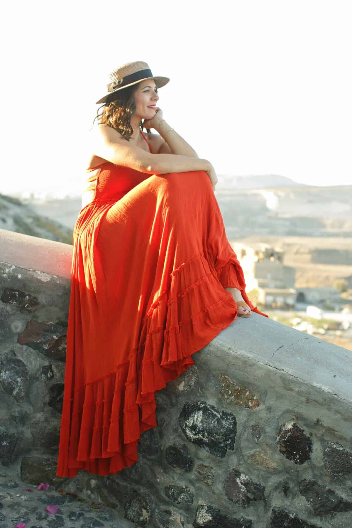 Free People red dress, maxi dresses, best outfit ideas for Greece - My Style Vita @mystylevita