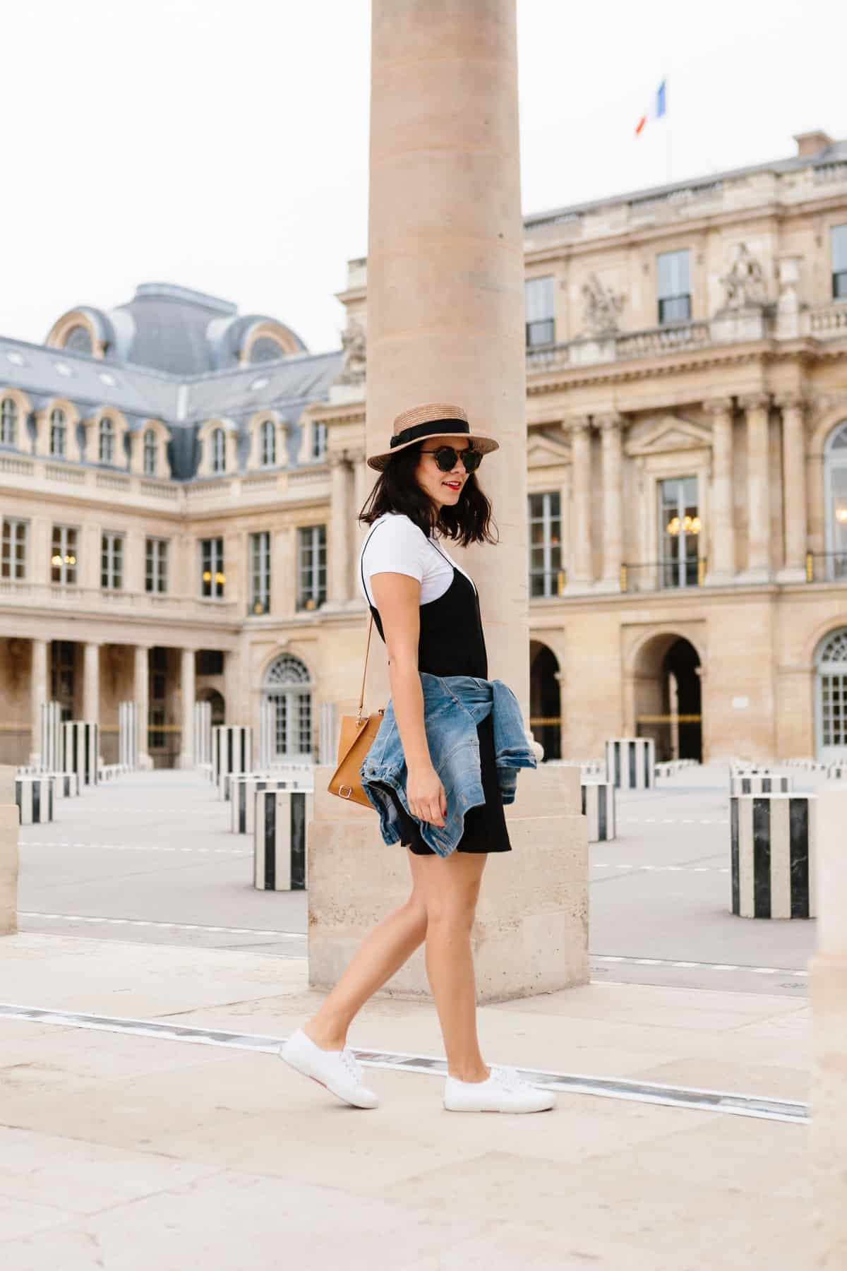 White Tee And Black Slip Dress Outfit My Style Vita
