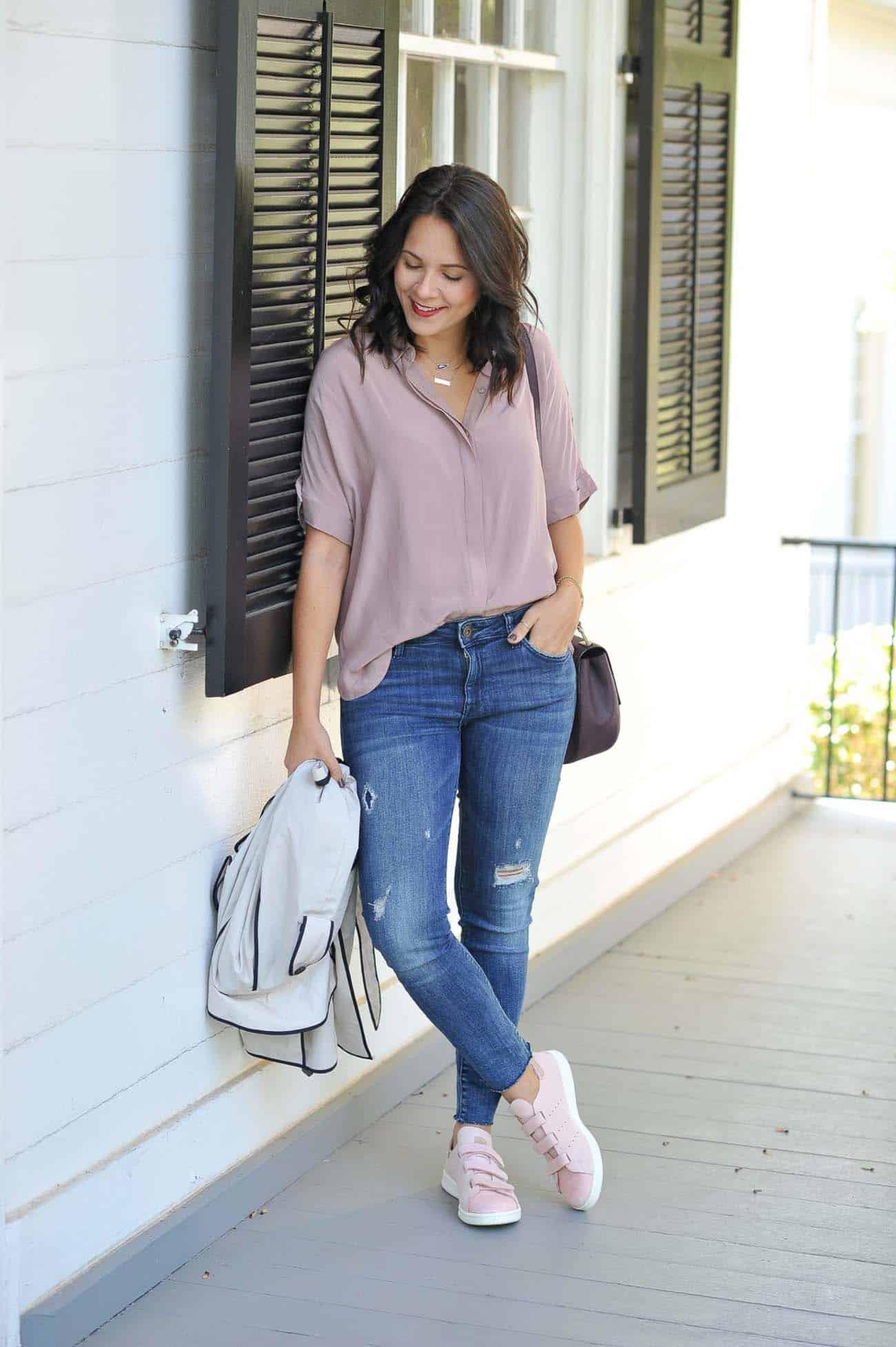 Pink velcro Adidas, how to style Adidas, how to wear Adidas - My Style Vita @mystylevita