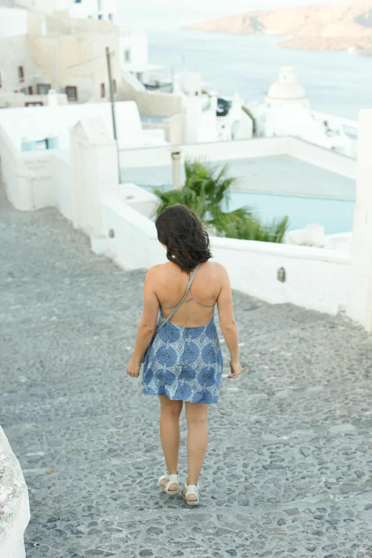 revolve blue dress, blue dresses for greece, what to wear on an island vacation - My Style Vita @mystylevita