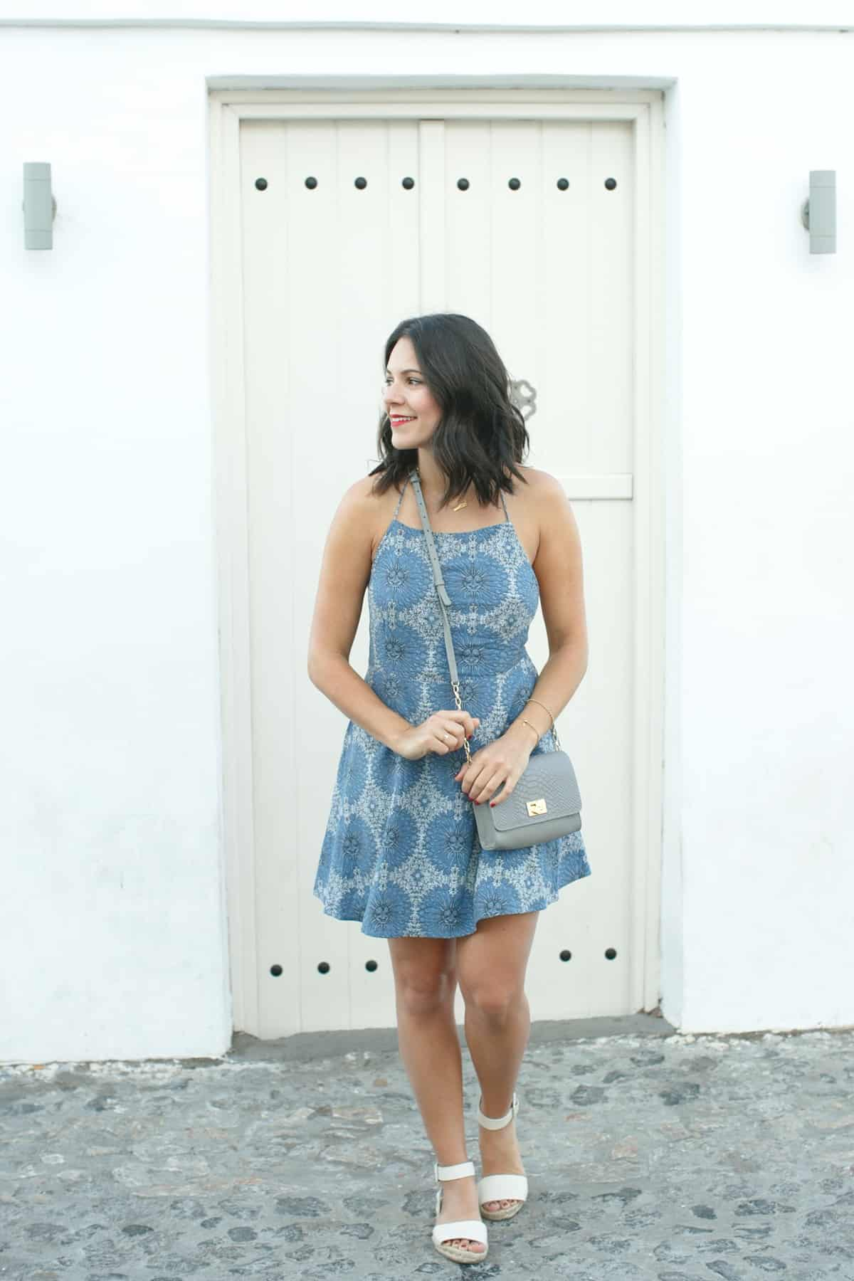 revolve blue dress, santorini outfit ideas, greece outfit ideas - My Style Vita @mystylevita