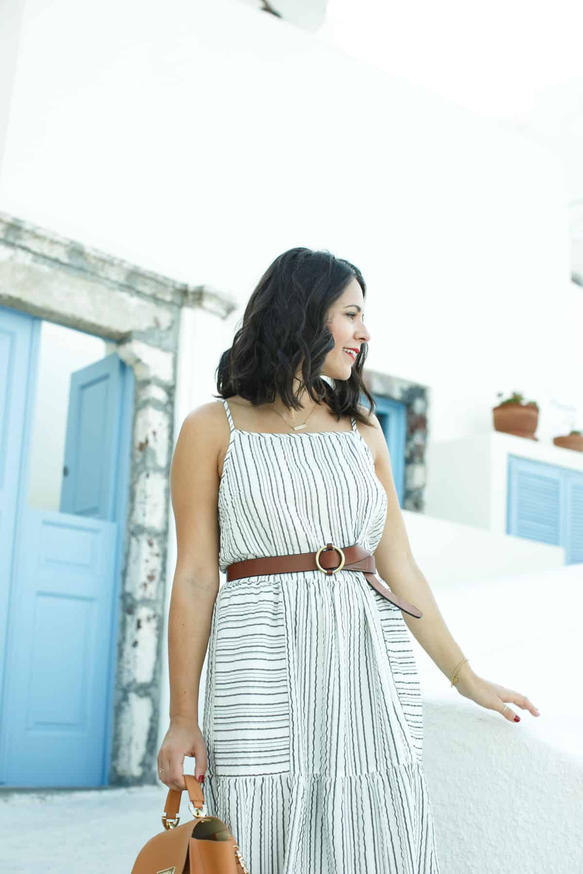 Two Arrows Midi Dress with cutout detail - What to wear on vacation, Greece outfit ideas - My Style Vita @mystylevita