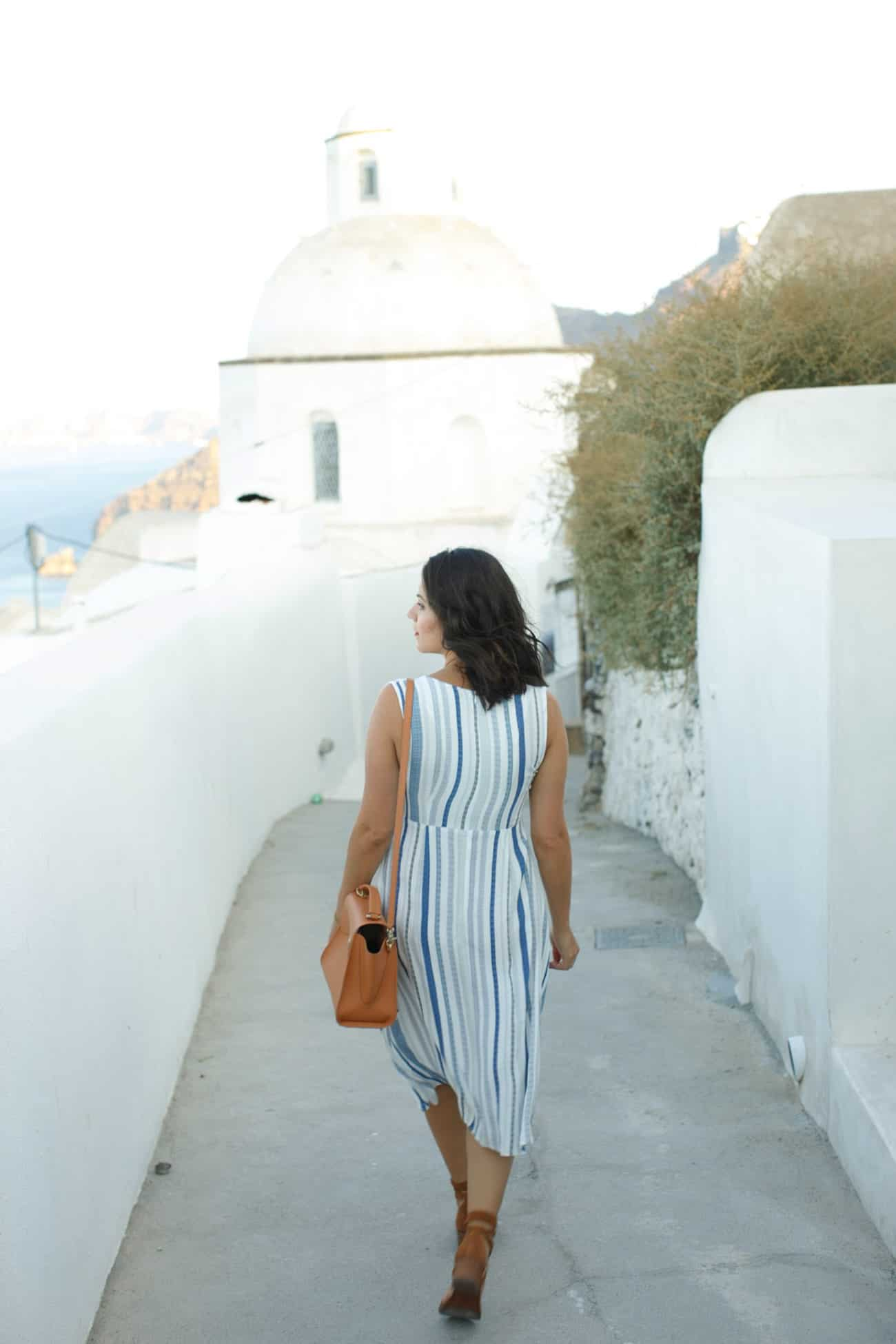 Two Arrows striped midi dress, Greece outfits, summer outfits - My Style Vita @mystylevita