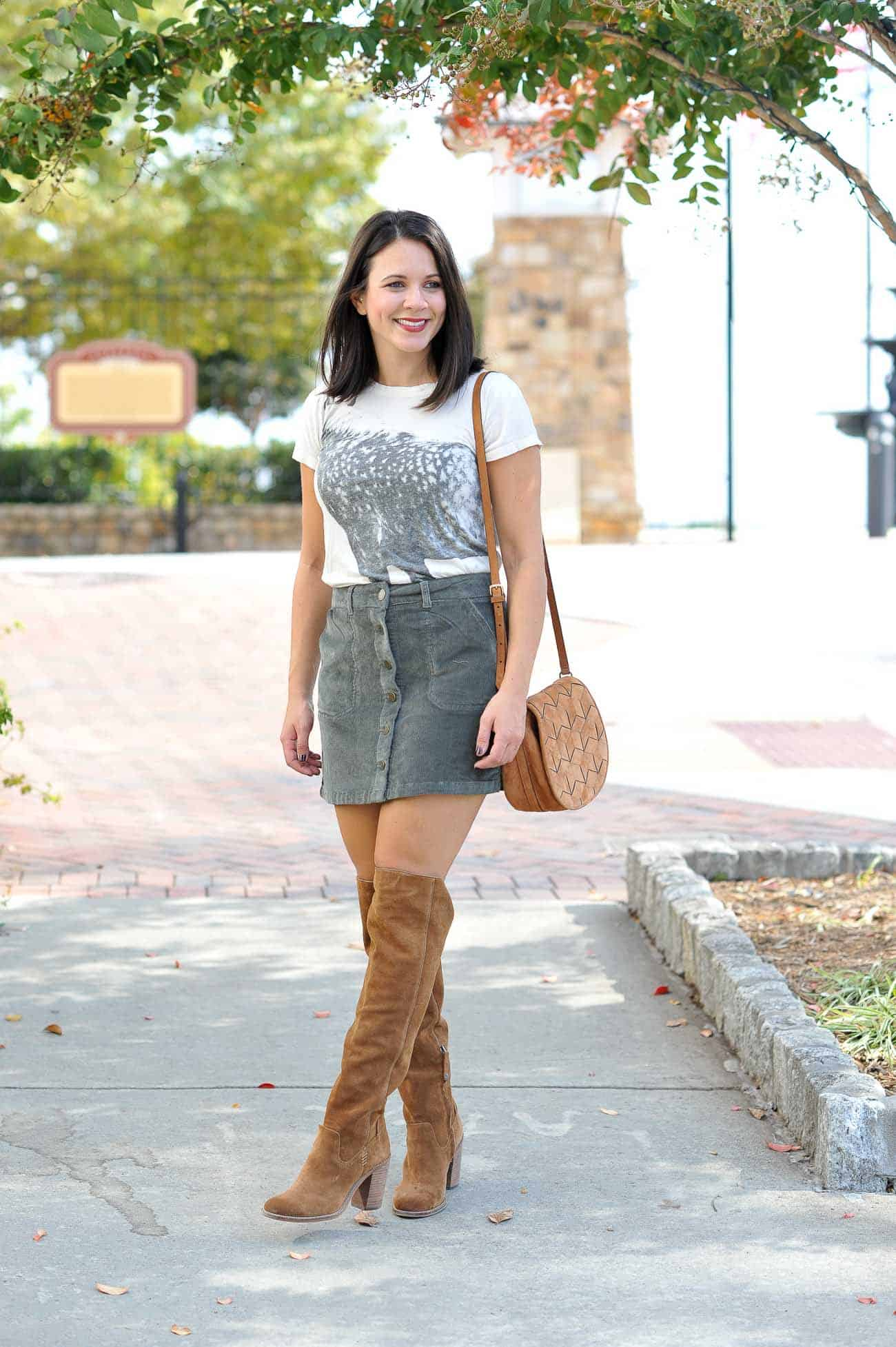 innovative button up skirt outfit ideas 18