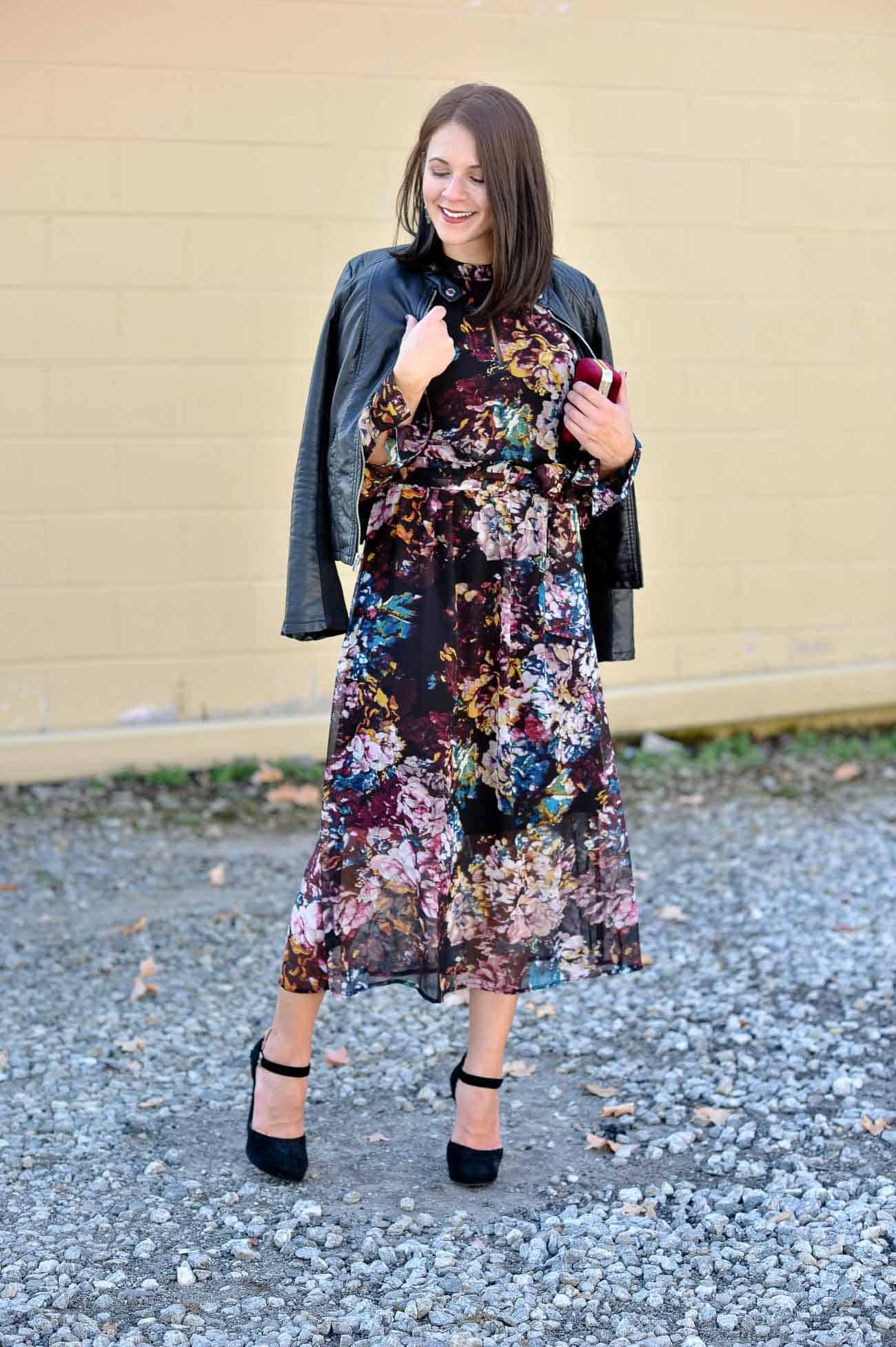 fall floral maxi dress, winter floral maxi - My Style Vita @mystylevita