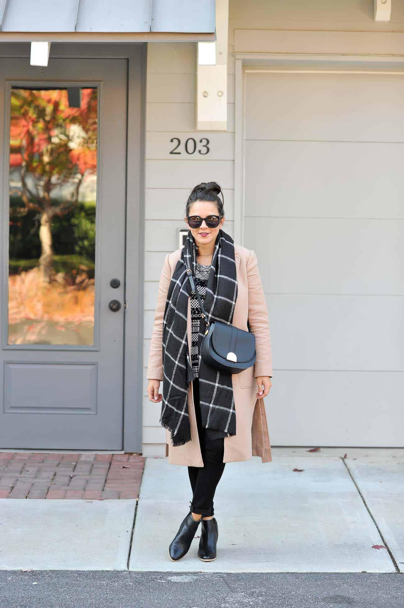 layered winter outfit ideas, ann taylor camel coat - My Style Vita @mystylevita