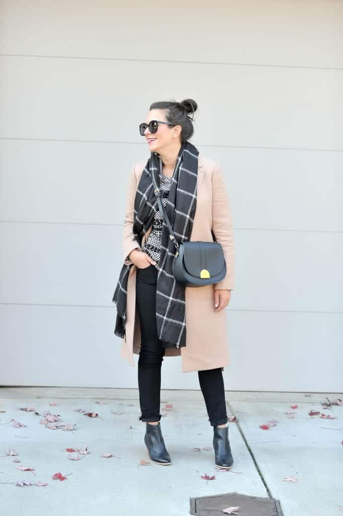 Winter Business Casual Outfit Ideas | Adding a thin long sleeve under a pretty sweater, under a coat and scarf is really my idea of the coziest winter outfit.