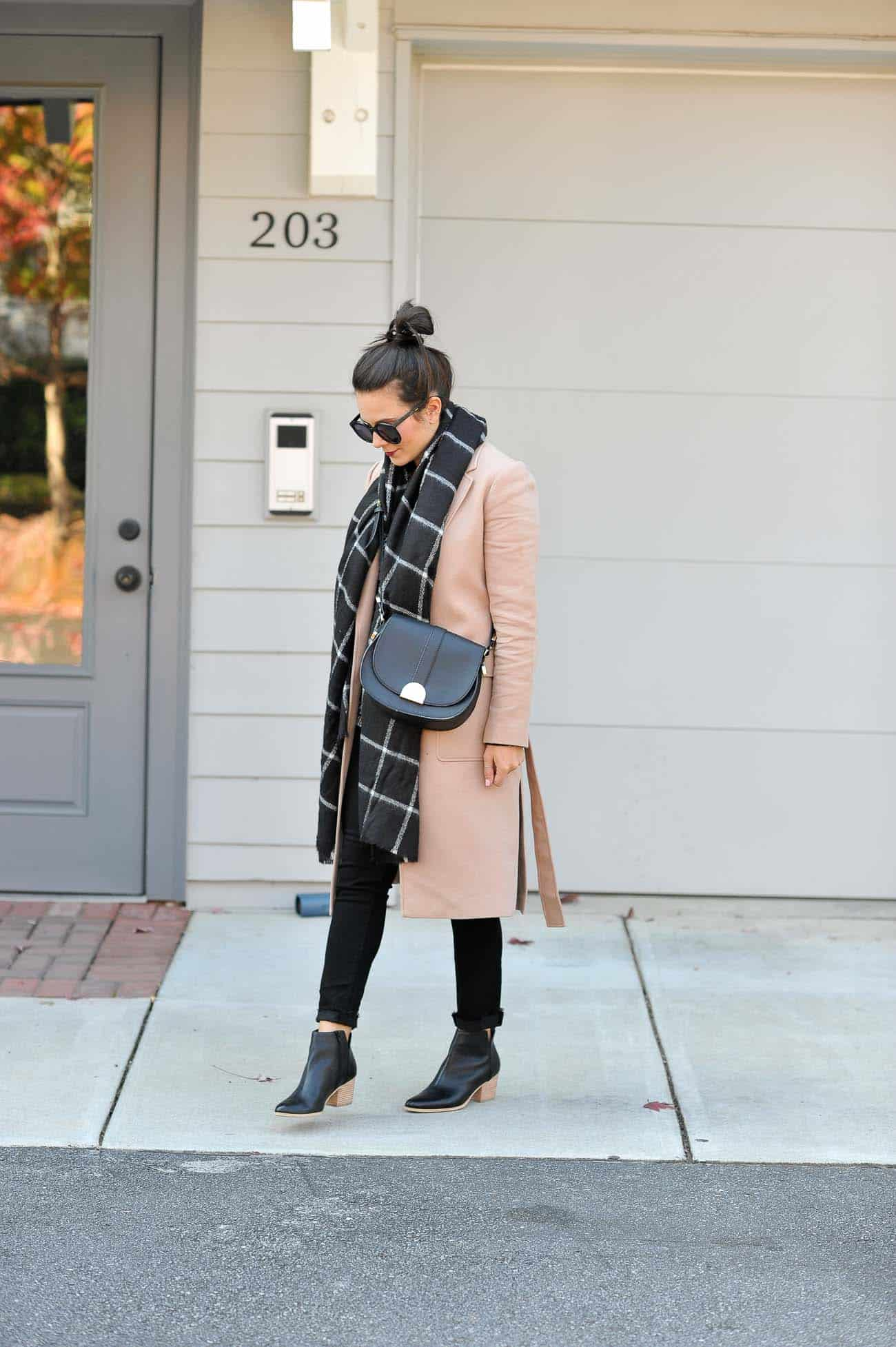 layered winter outfit ideas, ann taylor camel coat - My Style Vita @mystylevita