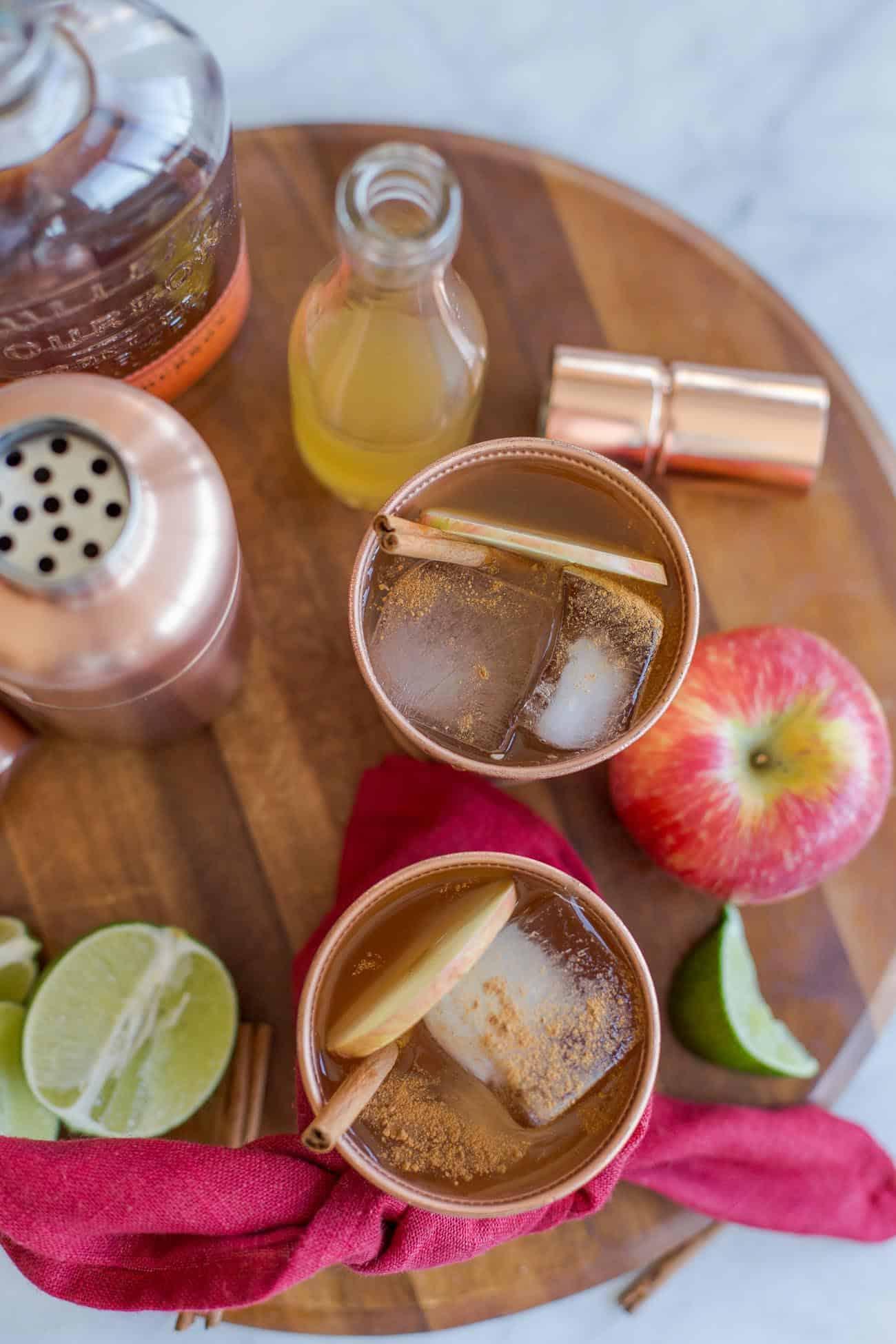 apple cider julep recipe, fall cocktails, holiday cocktails with apples, apple cider cocktail - My Style Vita @mystylevita