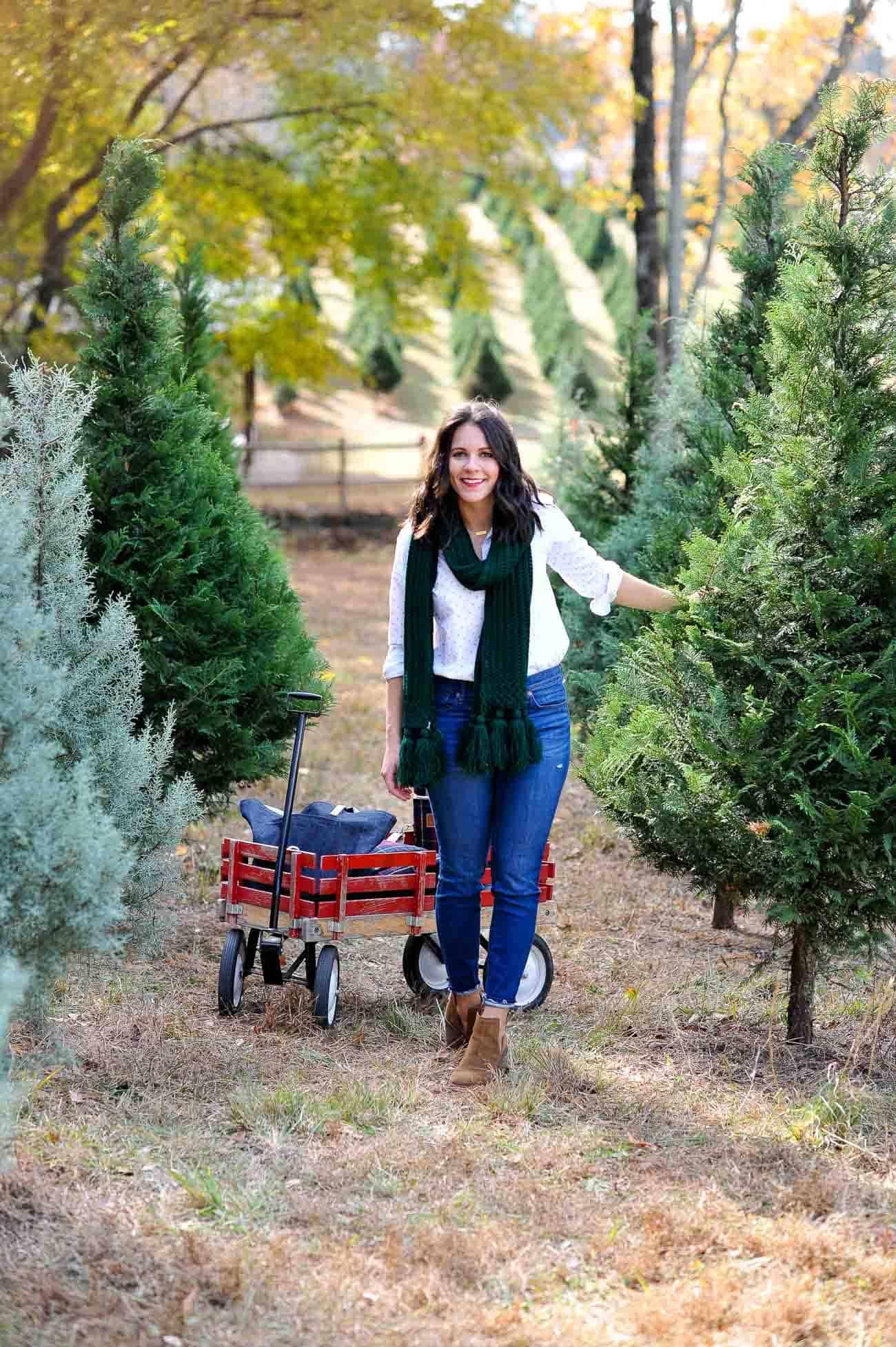 christmas tree farm photo ideas, winter outfits - My Style Vita @mystylevita
