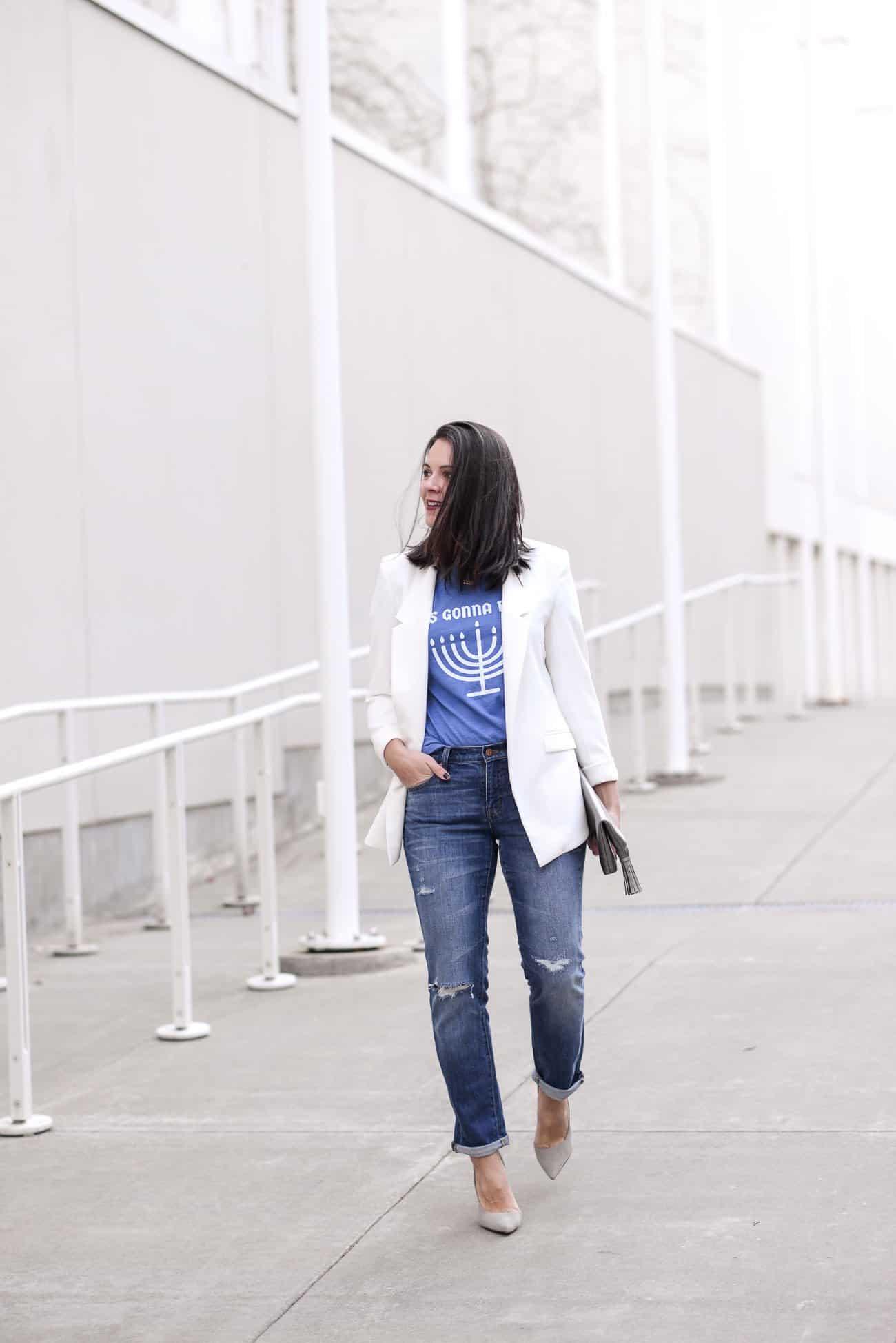 Hanukah T Shirt, Hanukah Party Outfit Ideas - My Style Vita @mystylevita