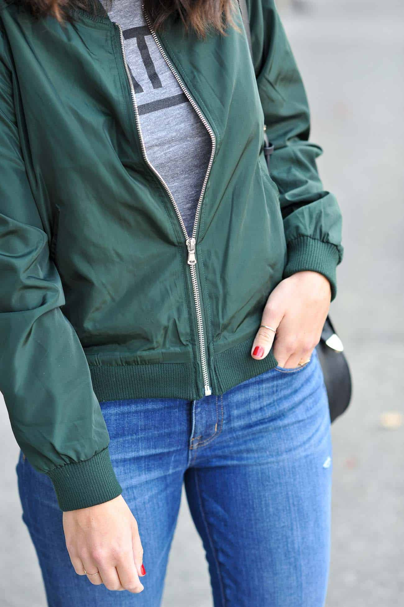 how to style a bomber jacket, fall outfits, casual outfits - My Style Vita @mystylevita