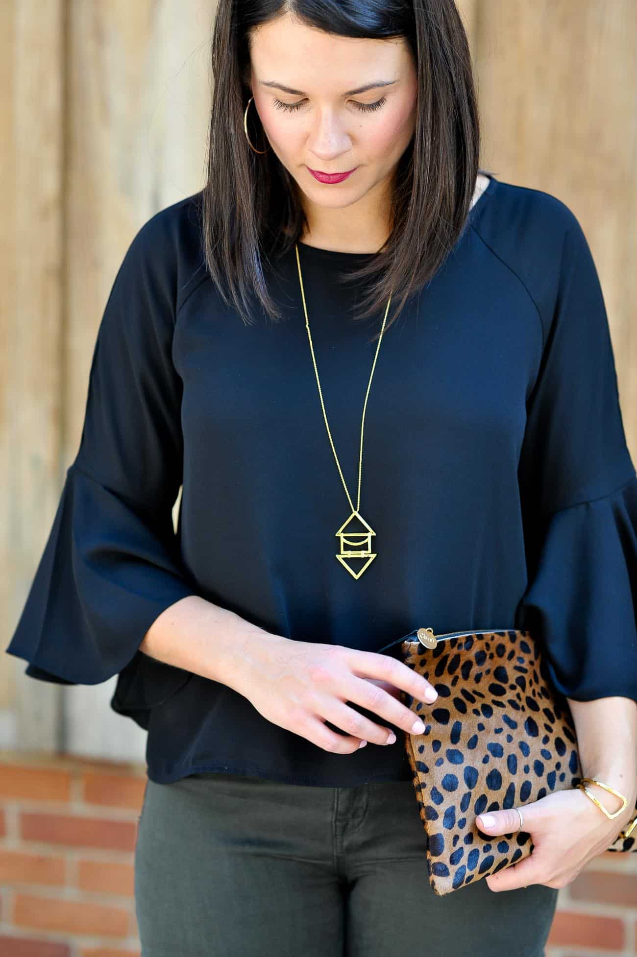 effortless outfits for a night out, fall outfit ideas, trumpet sleeve tops - My Style Vita @mystylevita