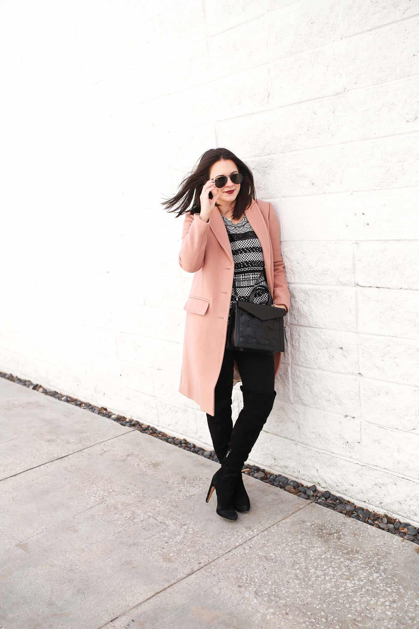 d5d3fb504671 How To Style The Blush Madewell Swing Coat For Fall - My Style Vita