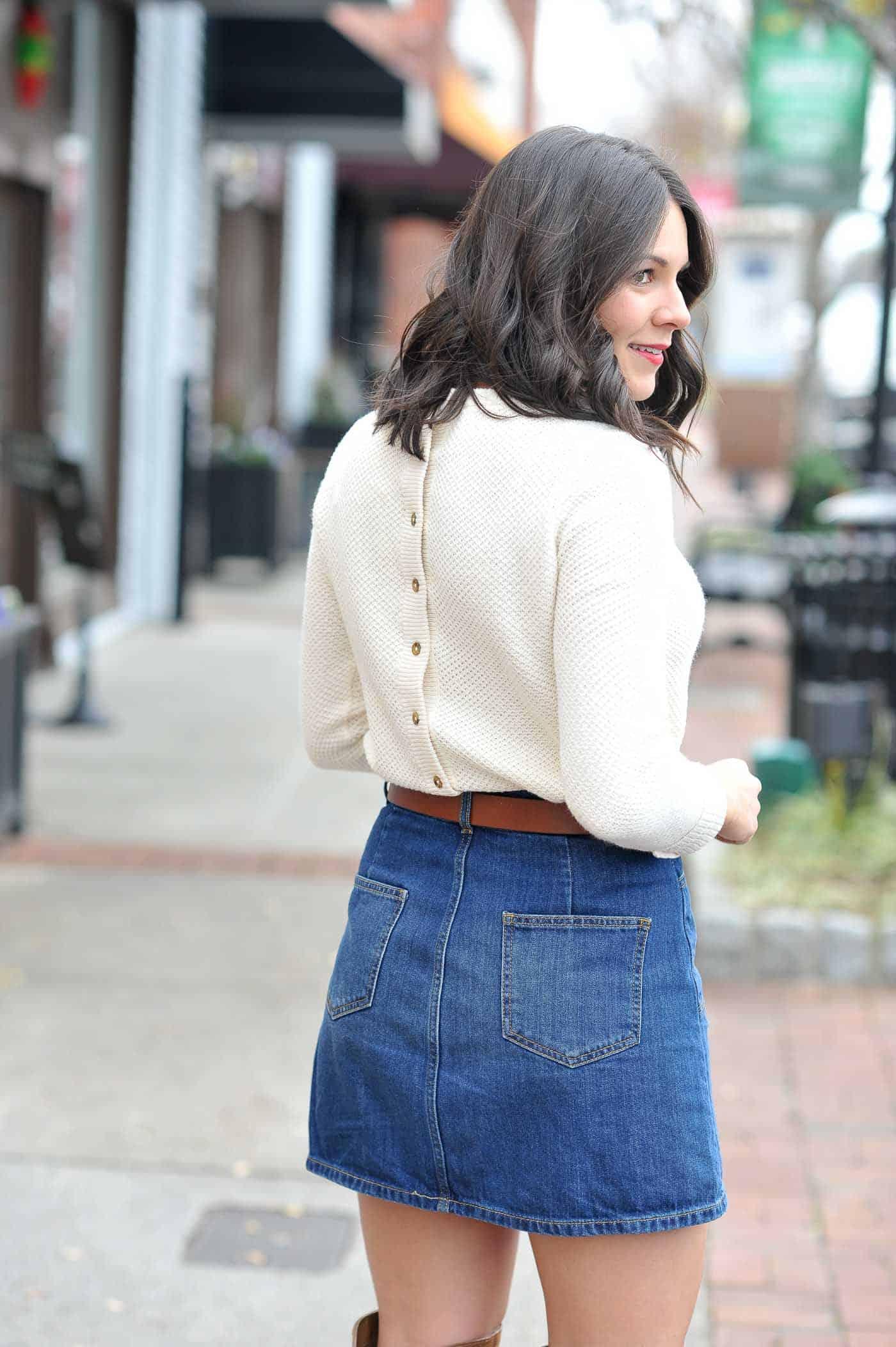 button back sweater, fall fashion, fall outfit ideas - My Style Vita @mystylevita