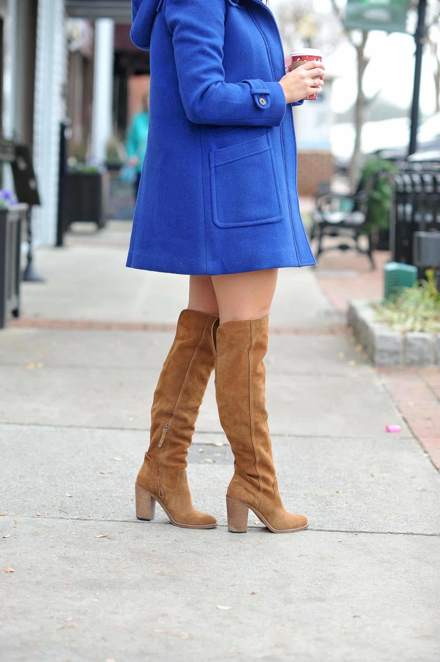 sweater and mini skirts for fall, thigh high boots outfits - My Style Vita @mystylevita