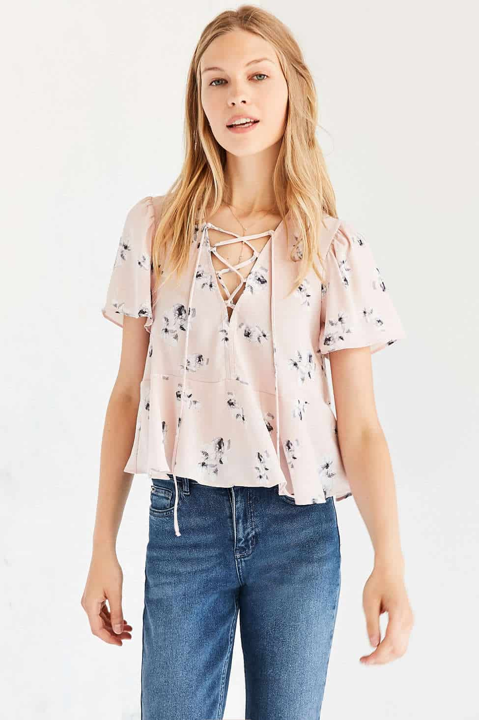 Lace up blouses, the best lace up tops - My Style Vita @mystylevita